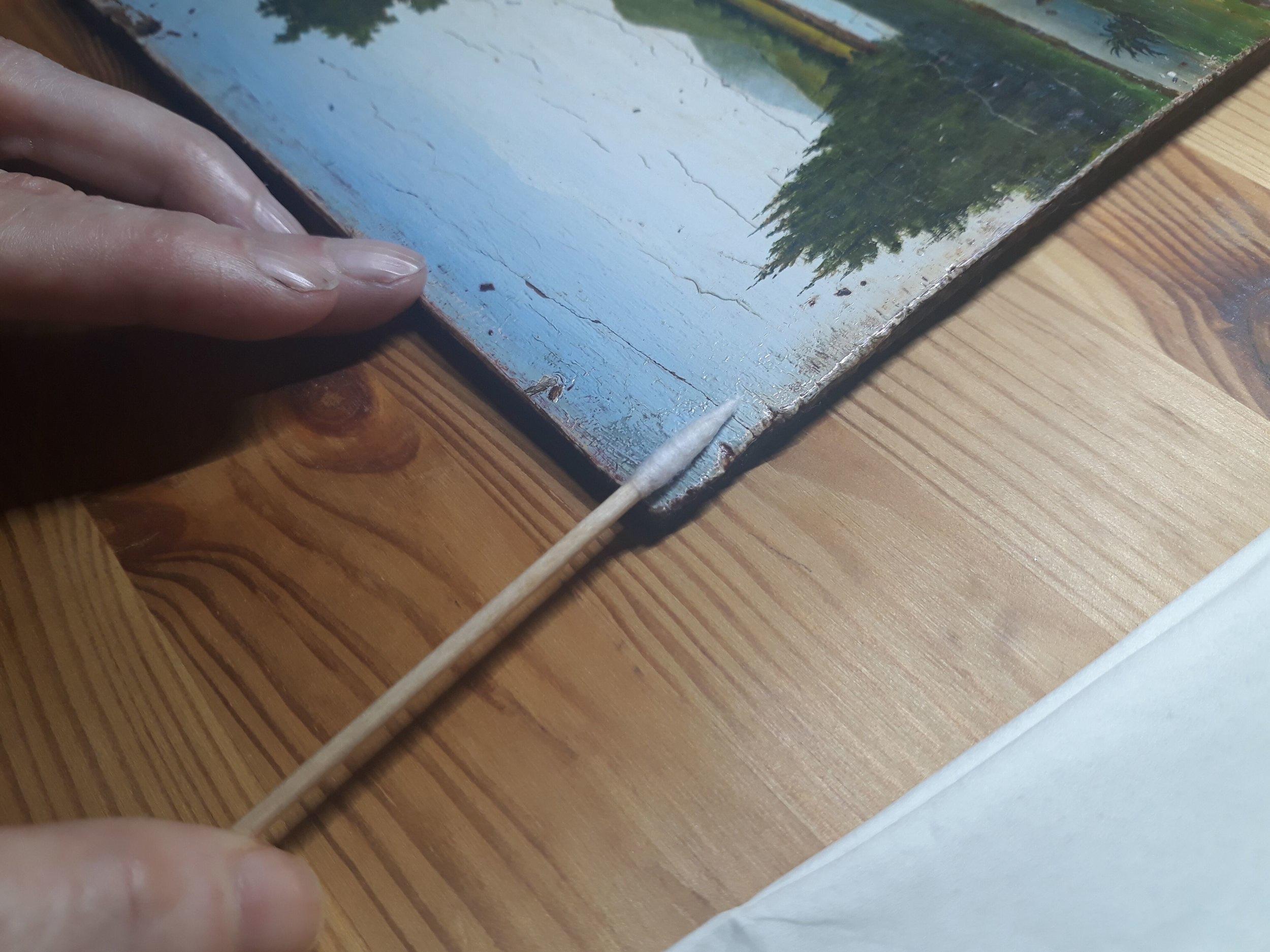 Cours privé de restauration de tableaux - Atelier Julie Pouillon
