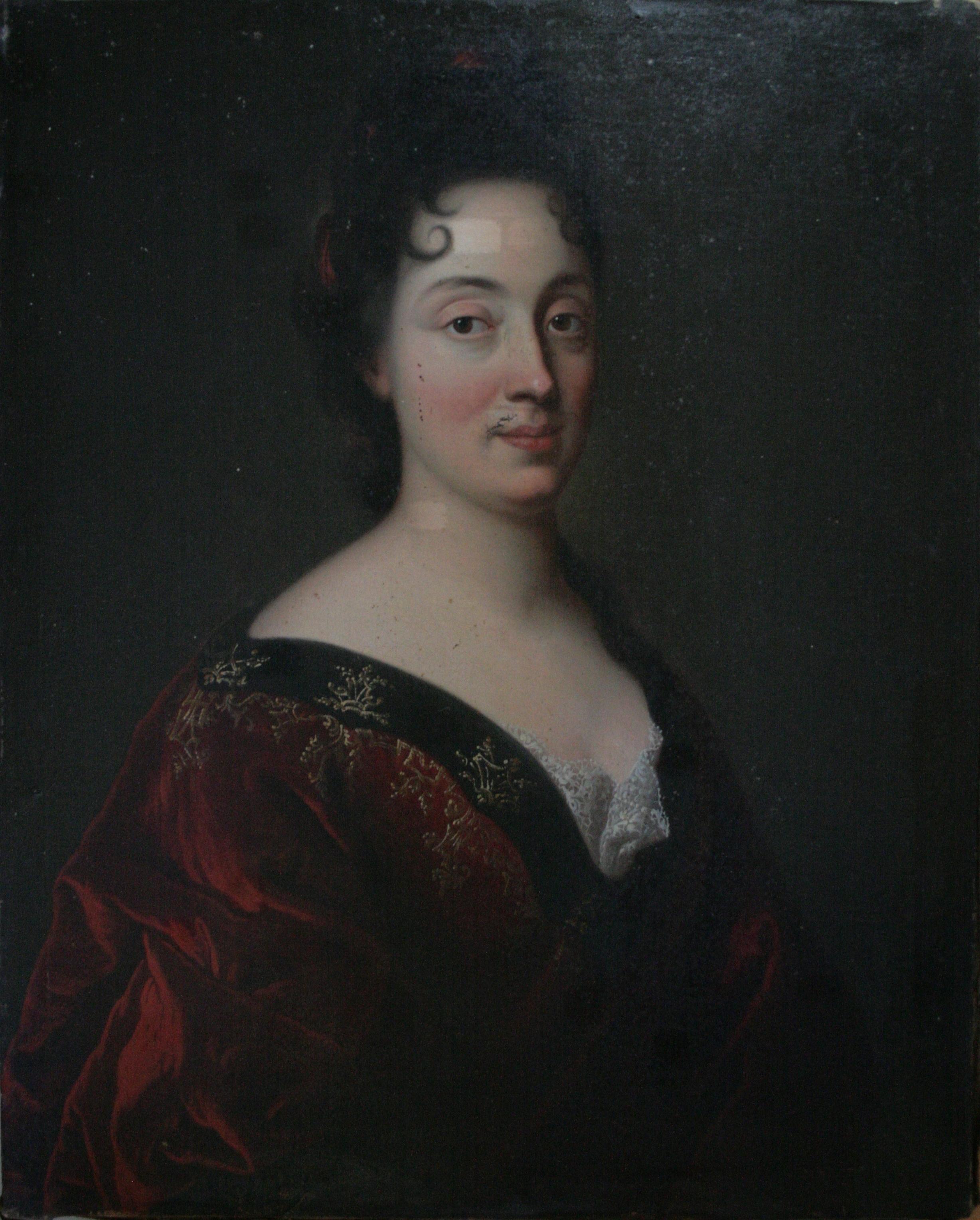 PORTRAIT DE FRANÇOISE FAUDELDE FAUVERESSE (1650-1741) - Anonyme, (Hyp. XVIIe et/ou XVIIIe siècle) - Peinture à l'huile sur toile