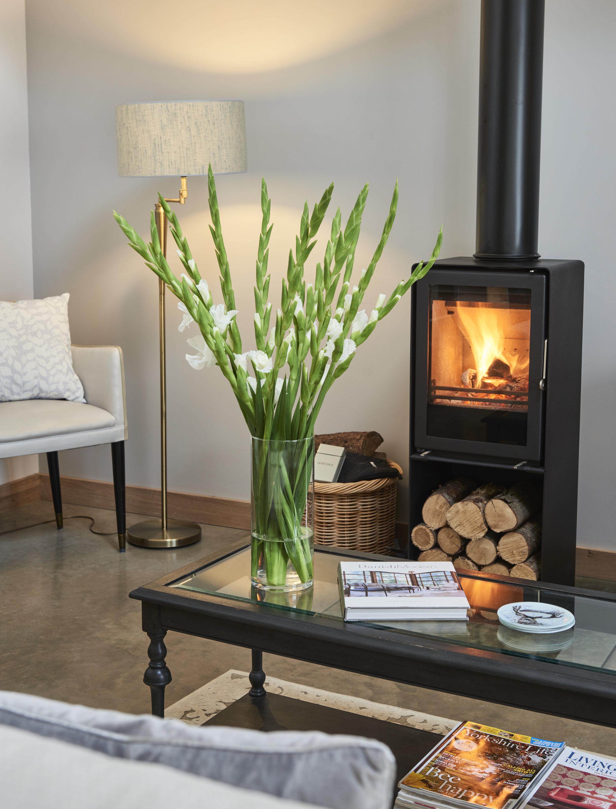 Luxury cottage log burner breaday gill