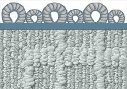 Pattern Loop Carpet  Loop carpet with variable twist heights