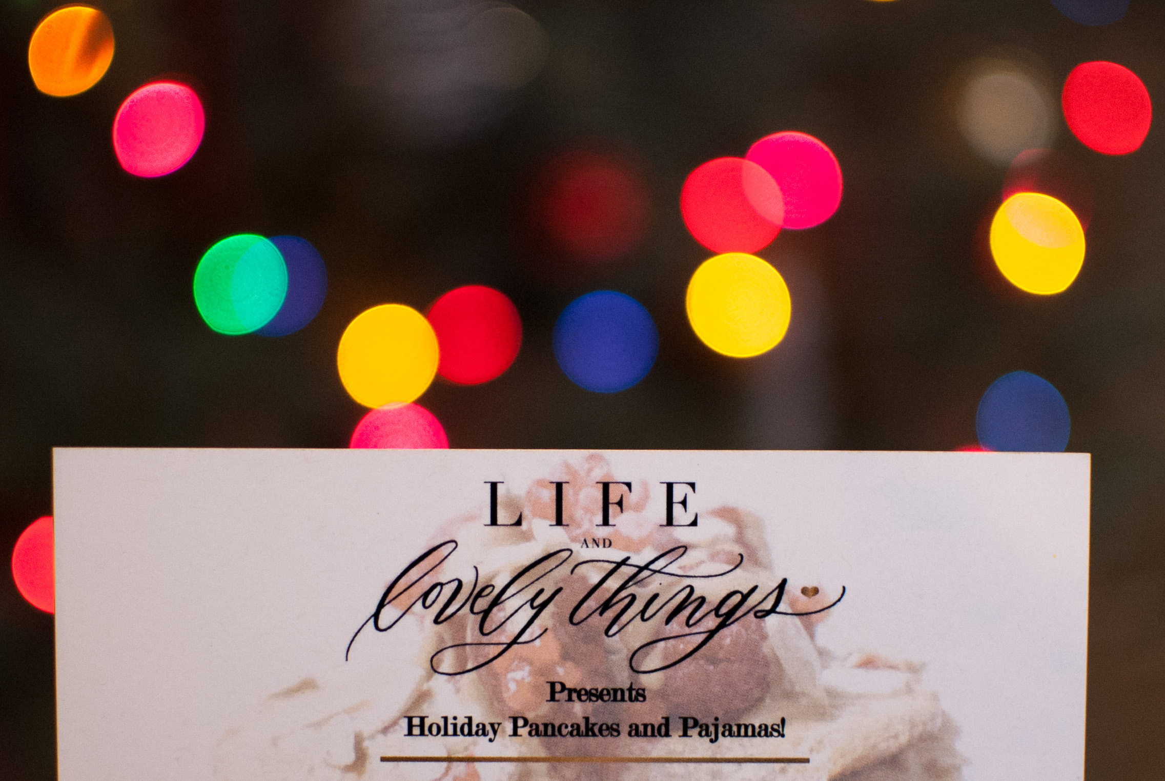 happy holiday from life and lovely things, llc!