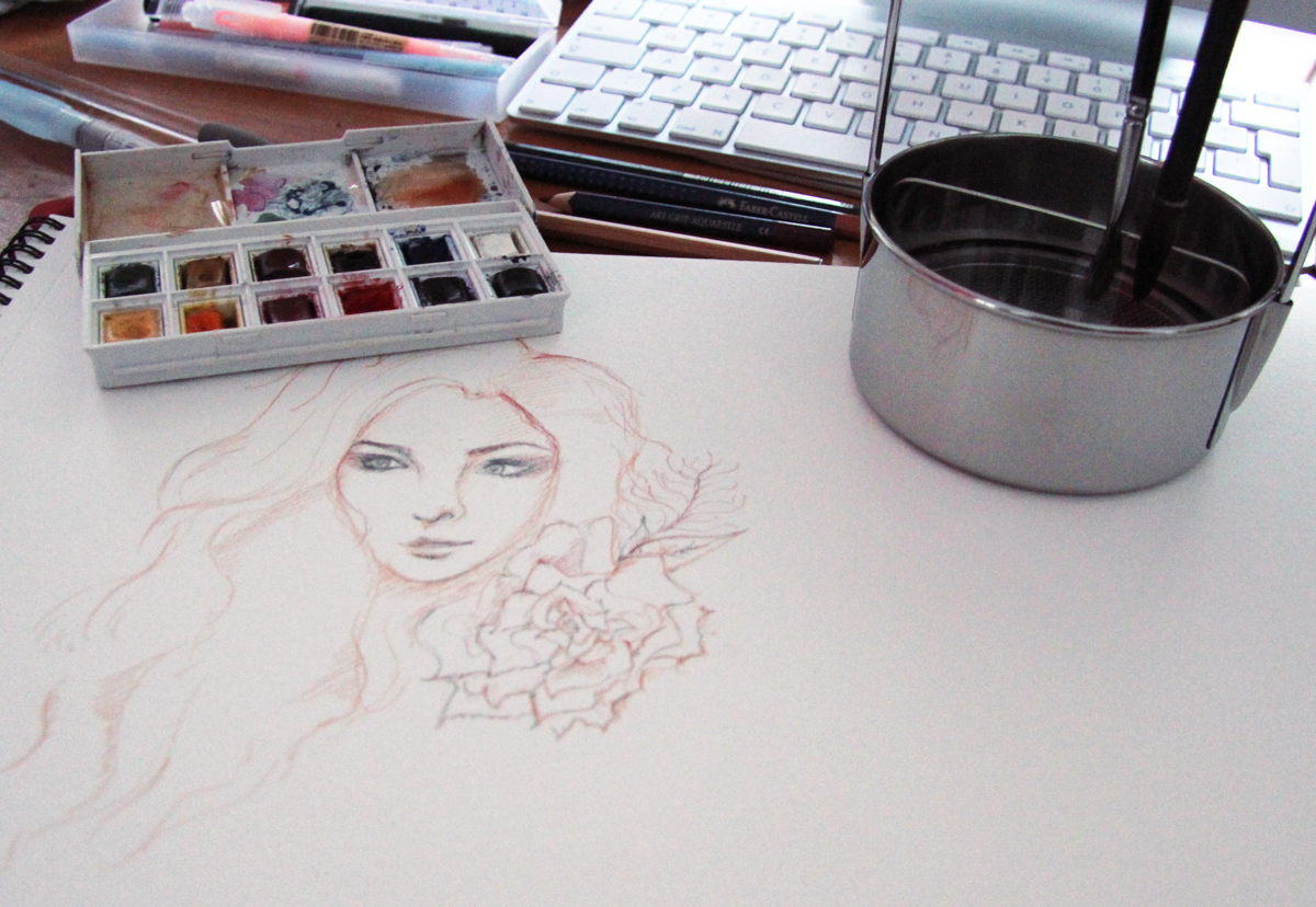 Watercolor - Before working