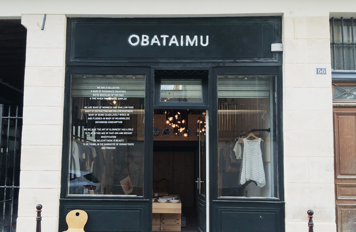 Obataimu / Popup store in Paris
