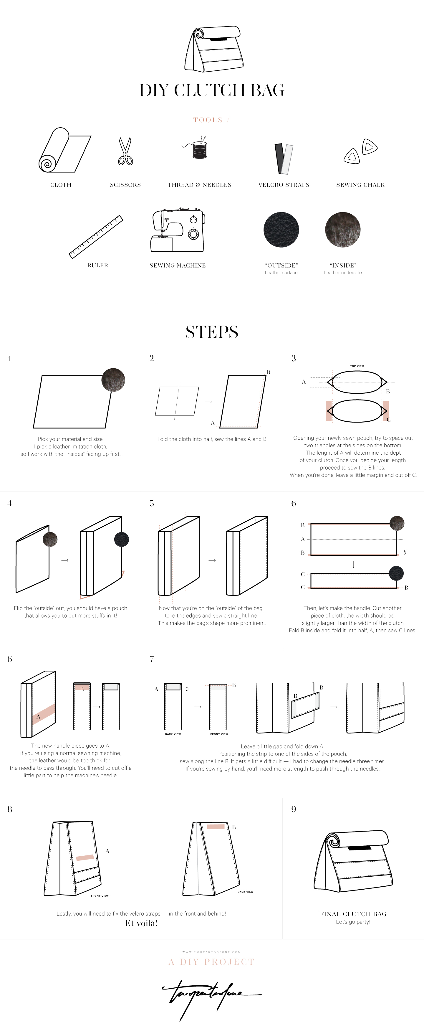 DIY Clutch Bag, Step by Step