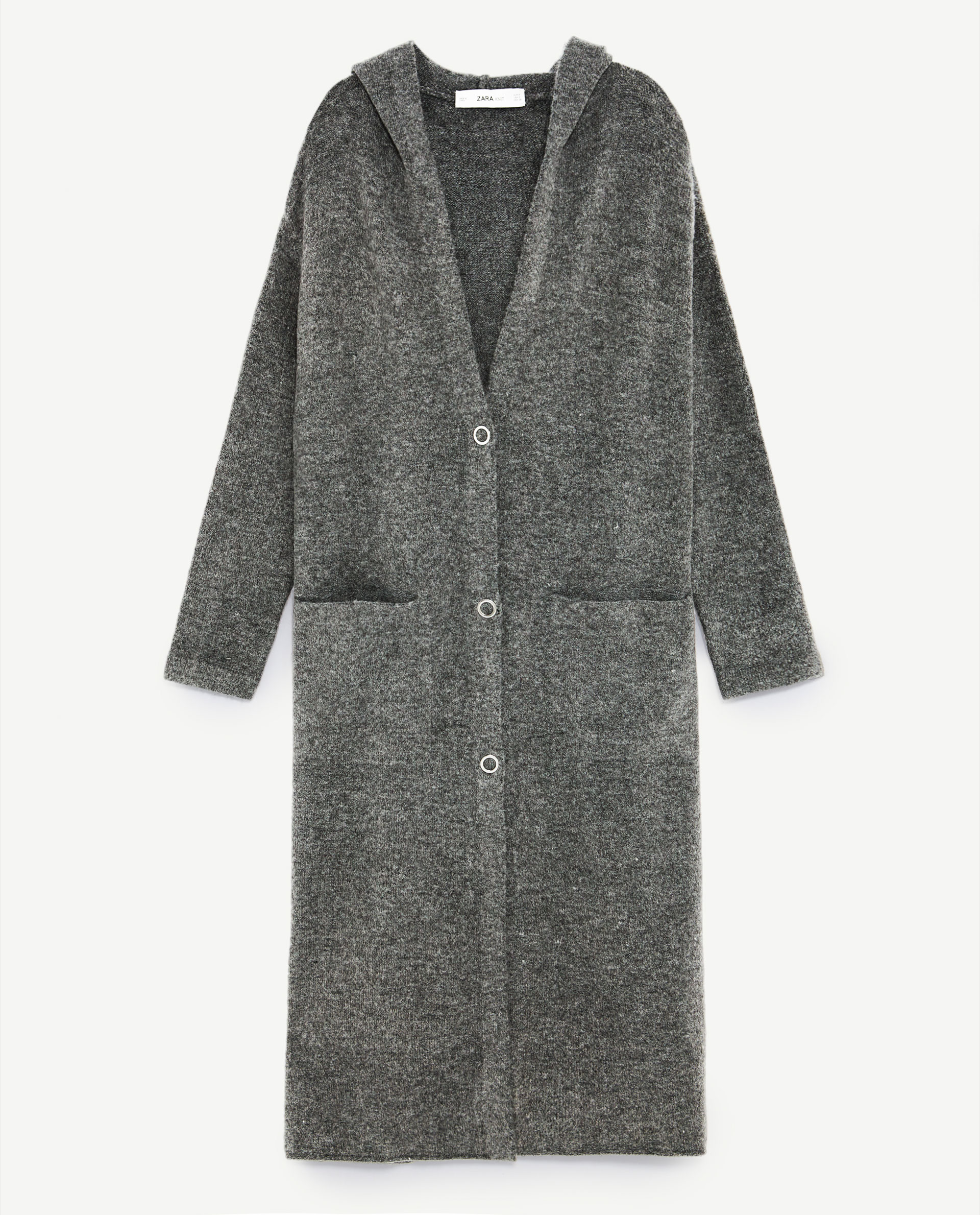 Hooded Long Cardigan
