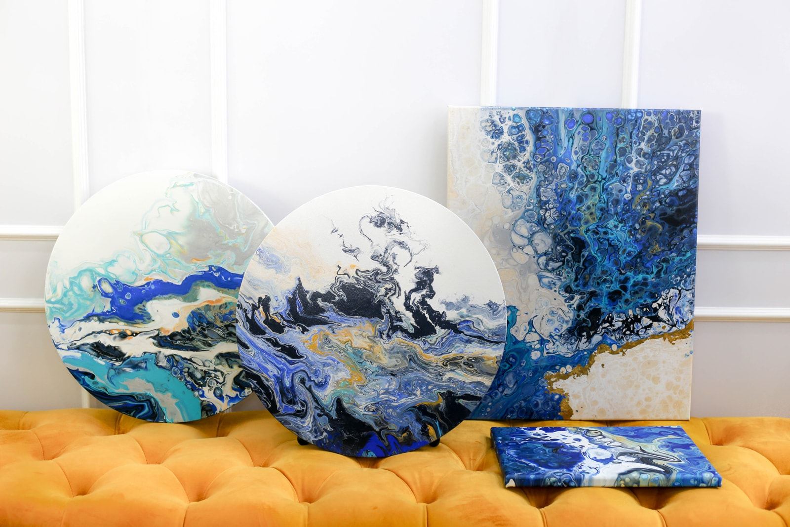 The Oceans Collection, Fluid Art | Twopartsofone © Carol Goh