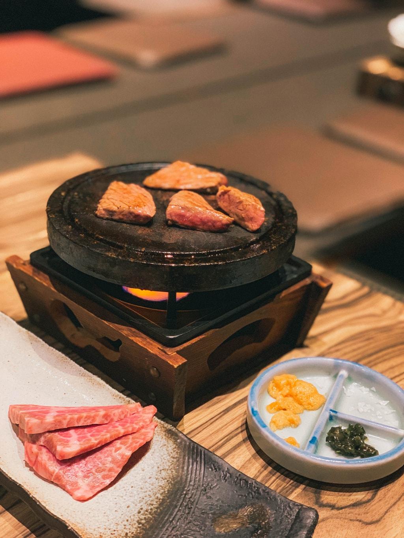 izakaya restaurant grill meat in nara