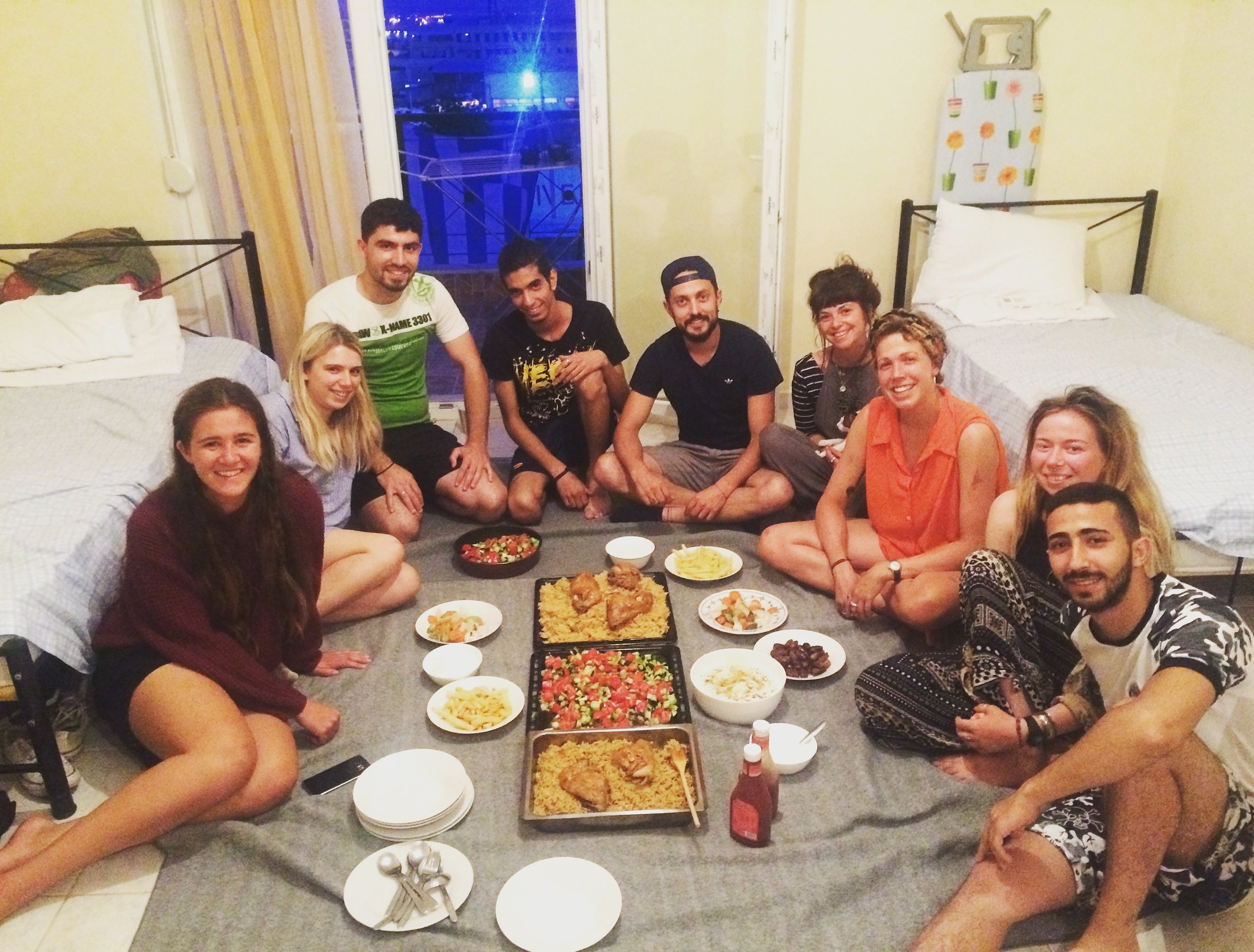 Breaking the fast together at our Syrian friends home.
