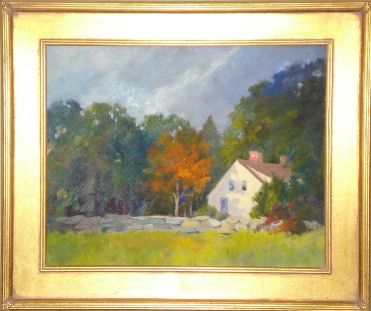 Traditional style gold plein air frame