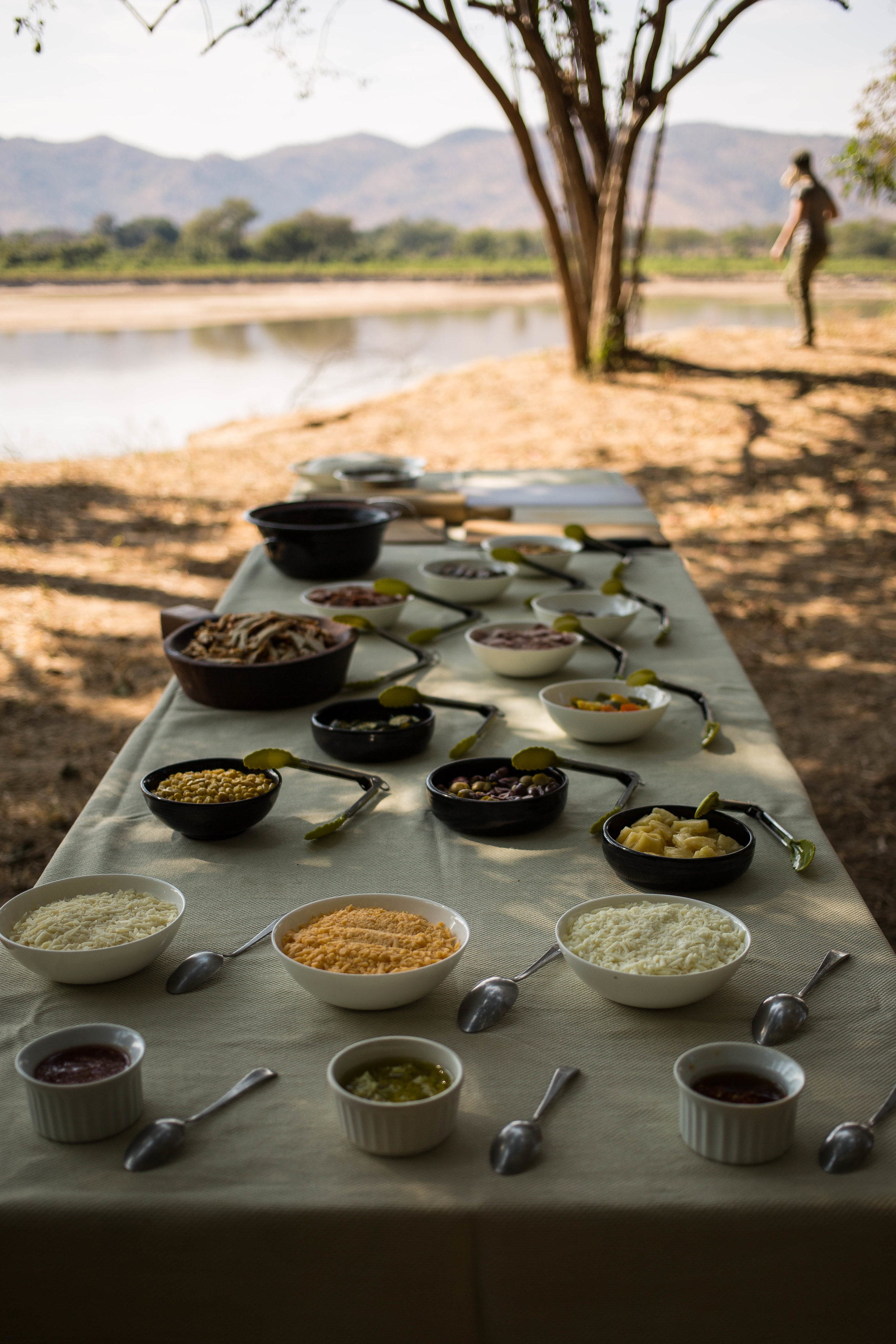 Mobile Pizza Making on the Banks of the Luangwe RIver