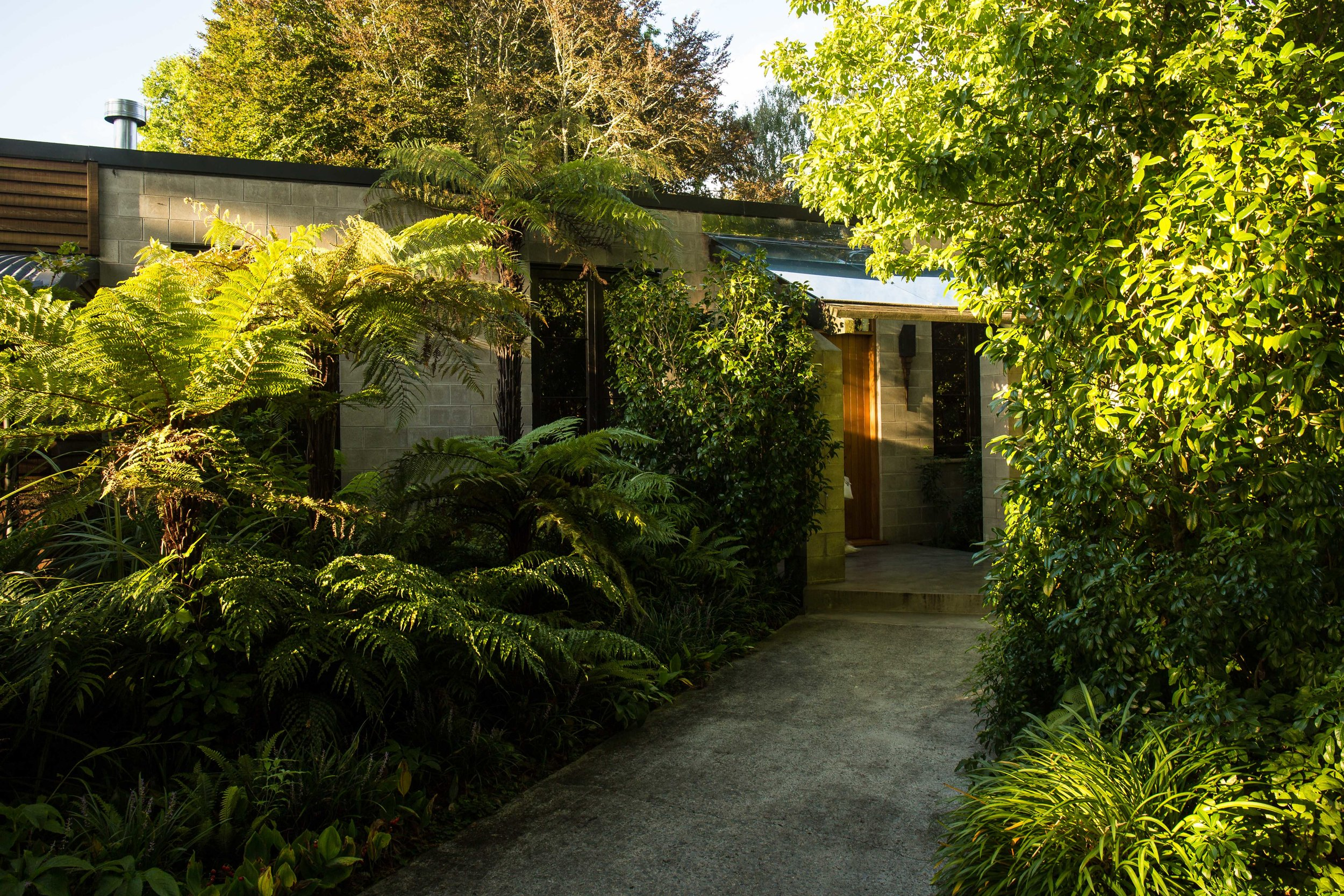 Lodge Entrance - Reached through impressive green gardens.