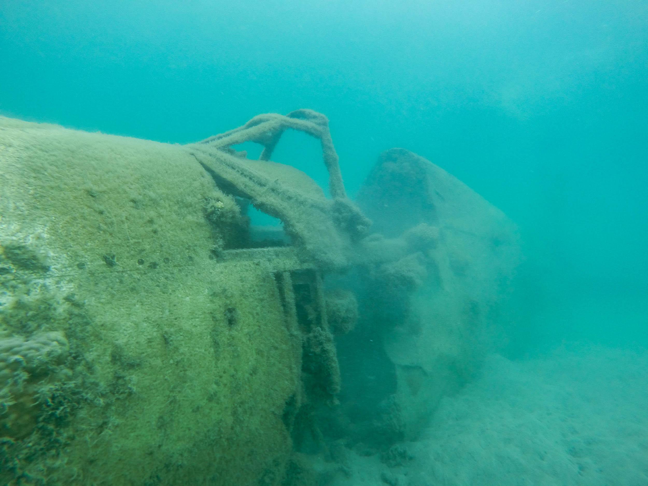 Snorkel on a World Ware 2 Plane Wreck (Forward Fuselage)