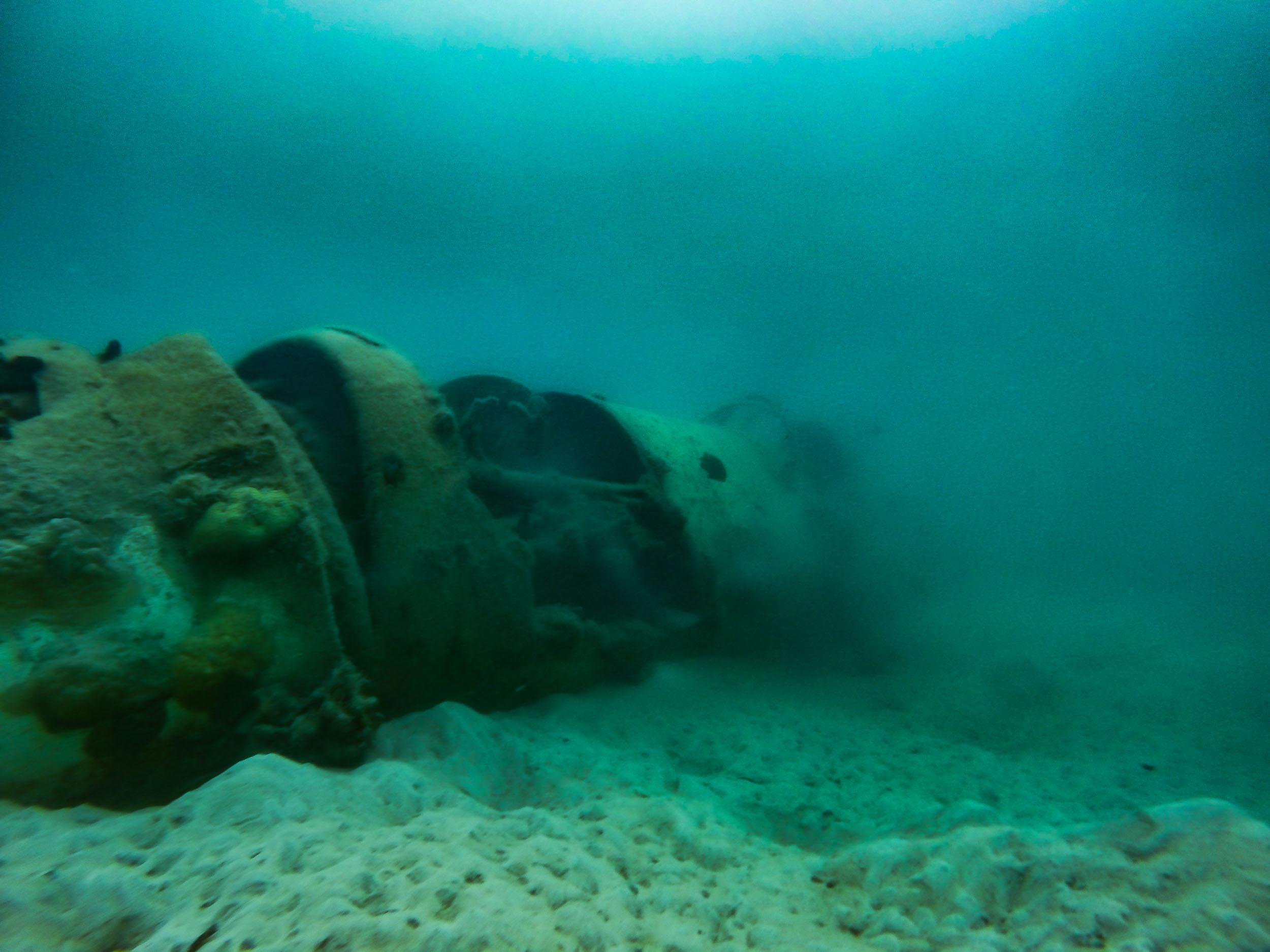 Snorkel on a World Ware 2 Plane Wreck (Engine)
