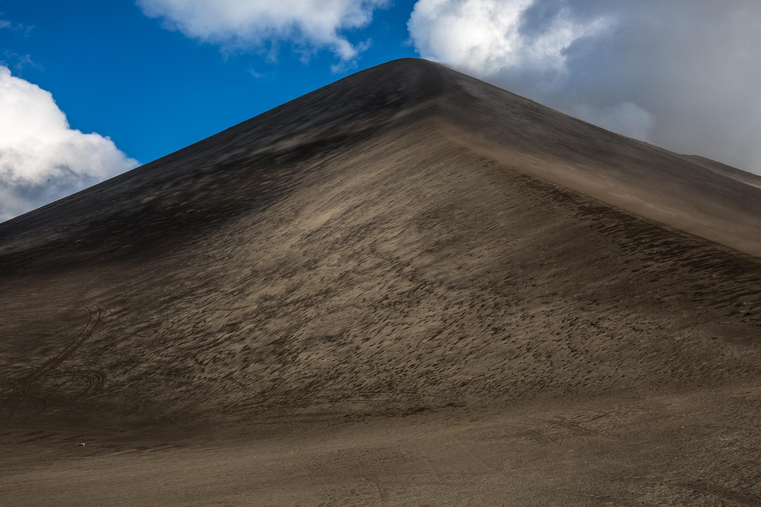 Mt Yasur Volcano is one big pile of fine, camera killing, ash!