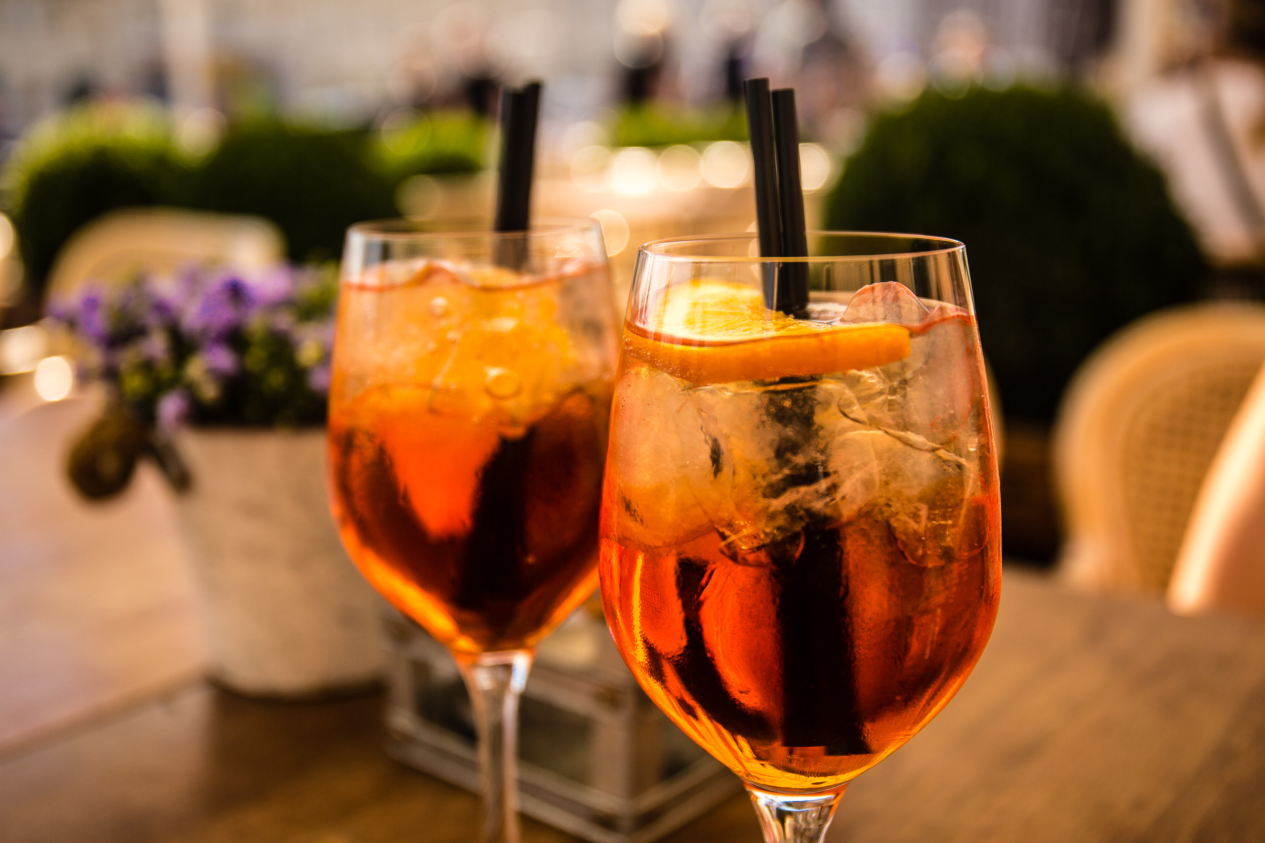Aperol Spritz on the famous Nyhavn Canal at SEA by Kiin Kiin