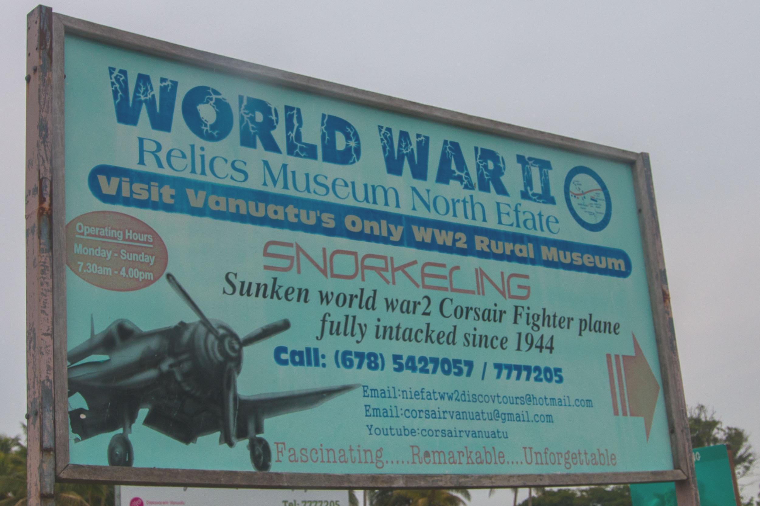 Vanuatu WWII Relics Museum Sign.jpg