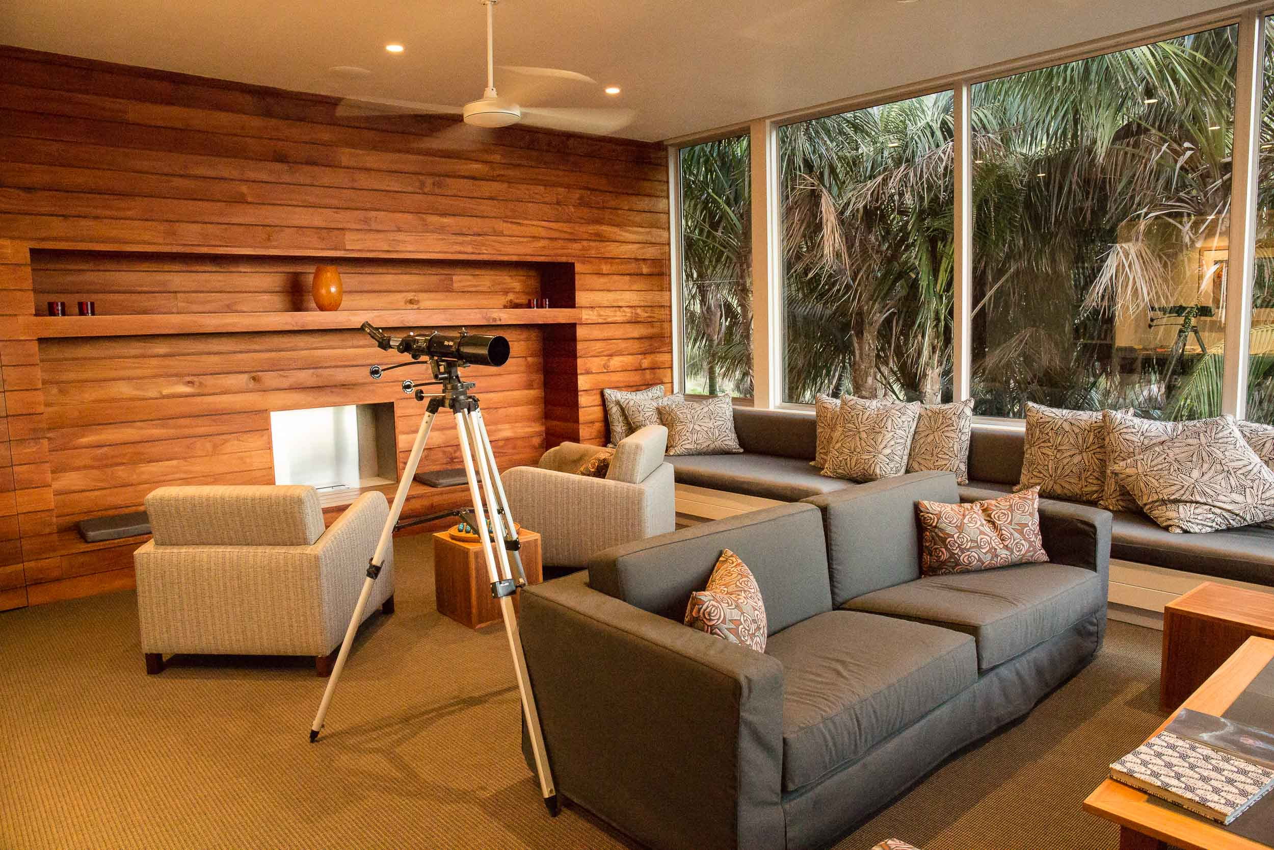 Capella Lodge, Reading Room and Library, Lord Howe Island