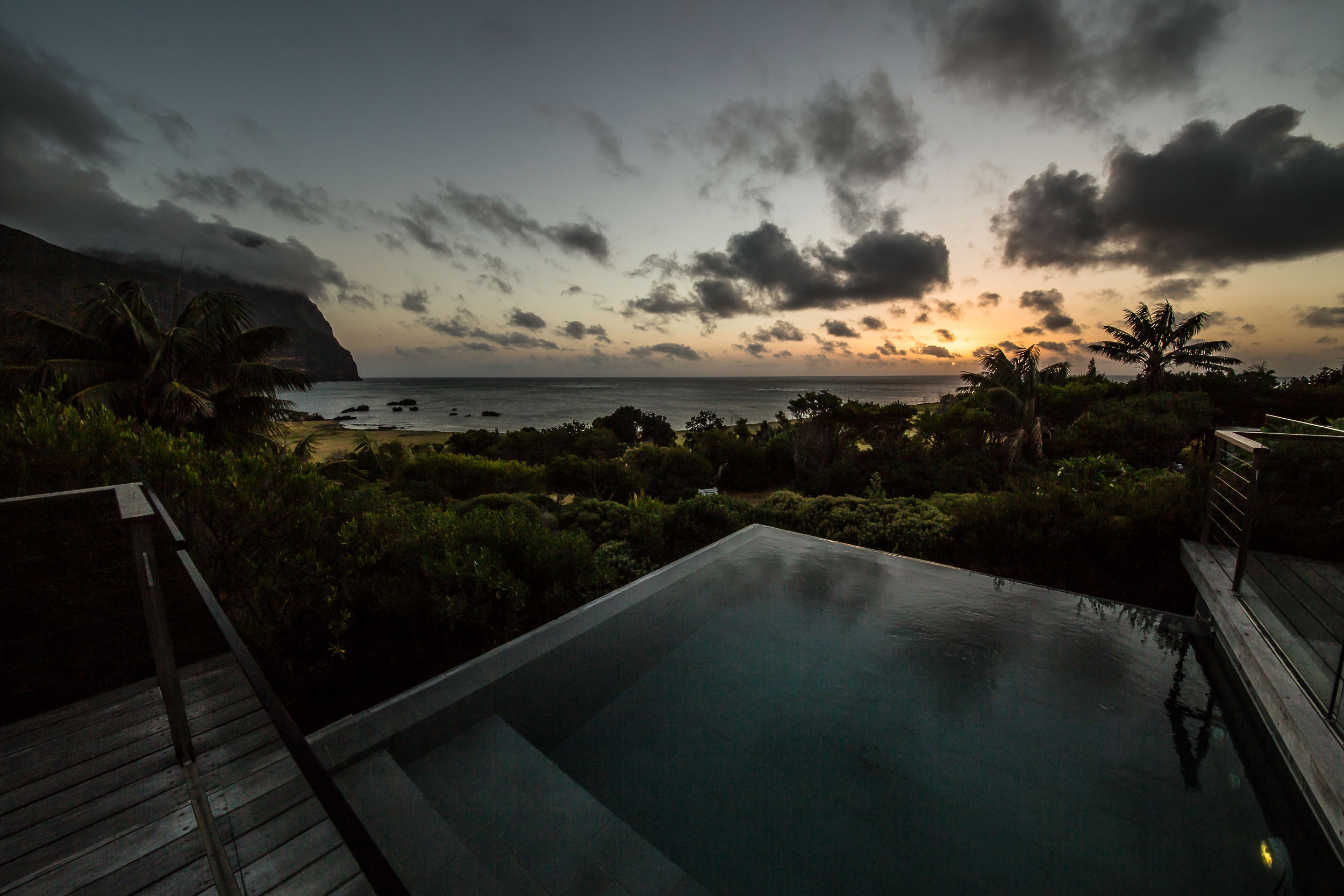 Days end at Capella Lodge, Lord Howe Island