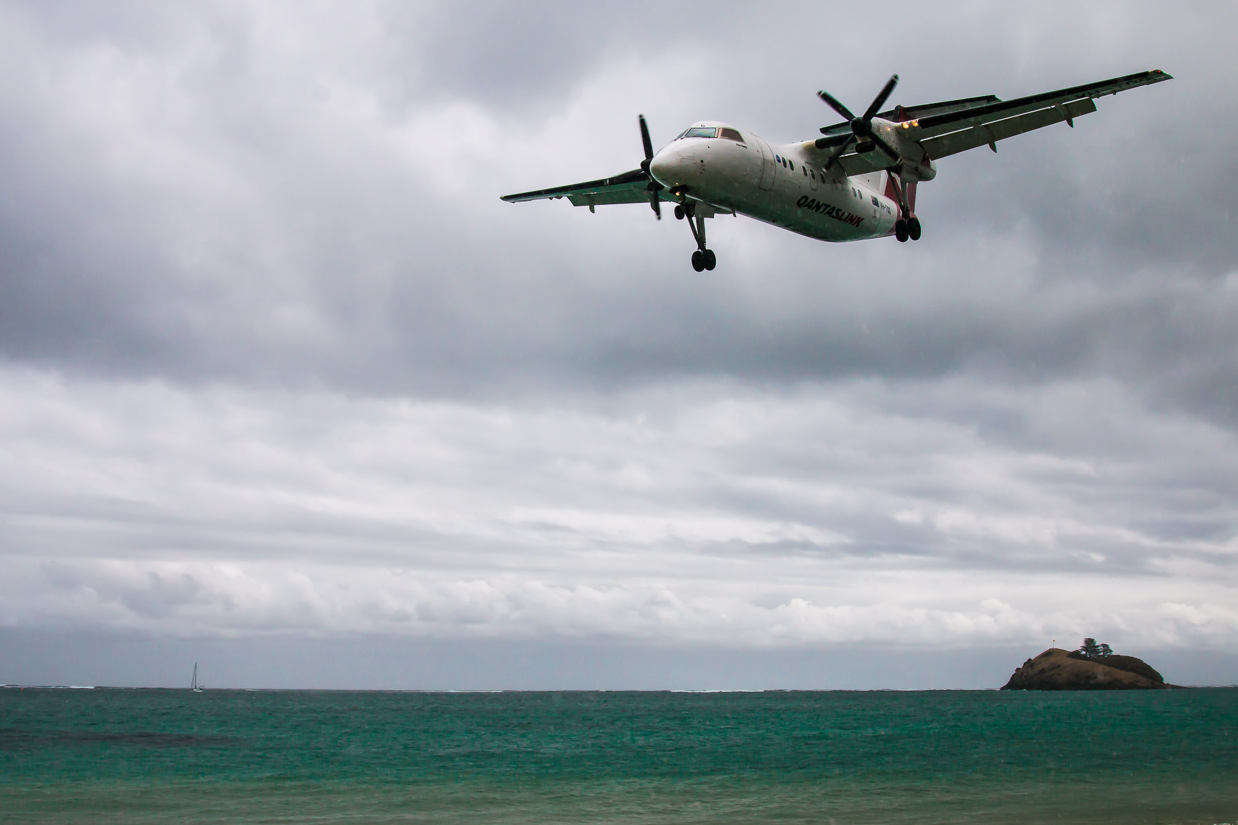 On approach to Lord Howe Island Airport