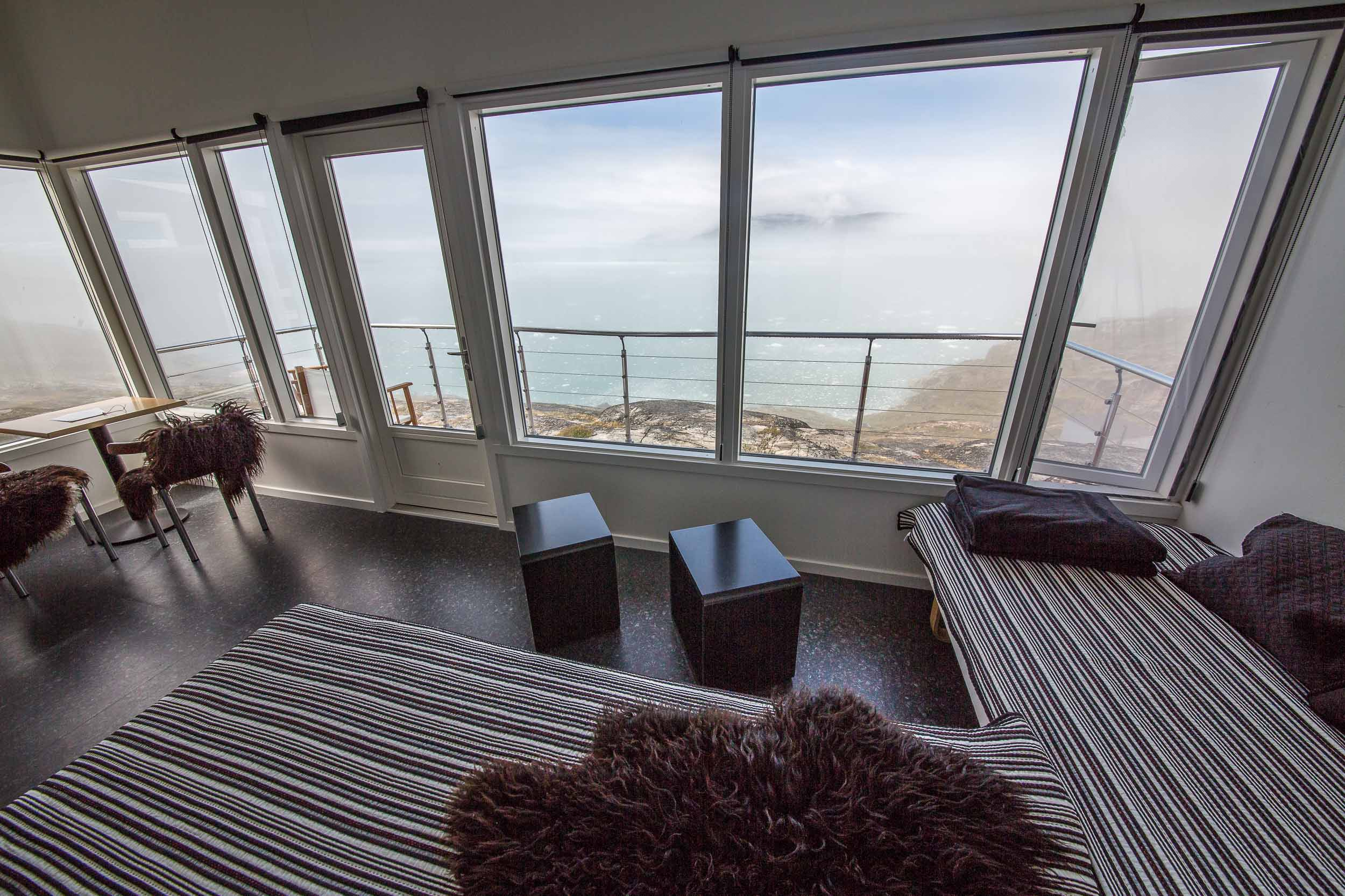 Luxury Travel in Greenland, Bedroom View, Hotel Eqi.jpg