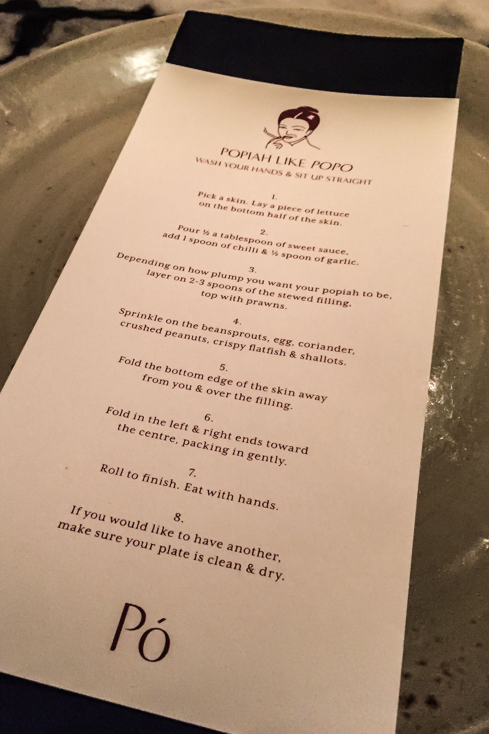 How to Make a Popiah (like Popo), Po Restaurant, Singapore