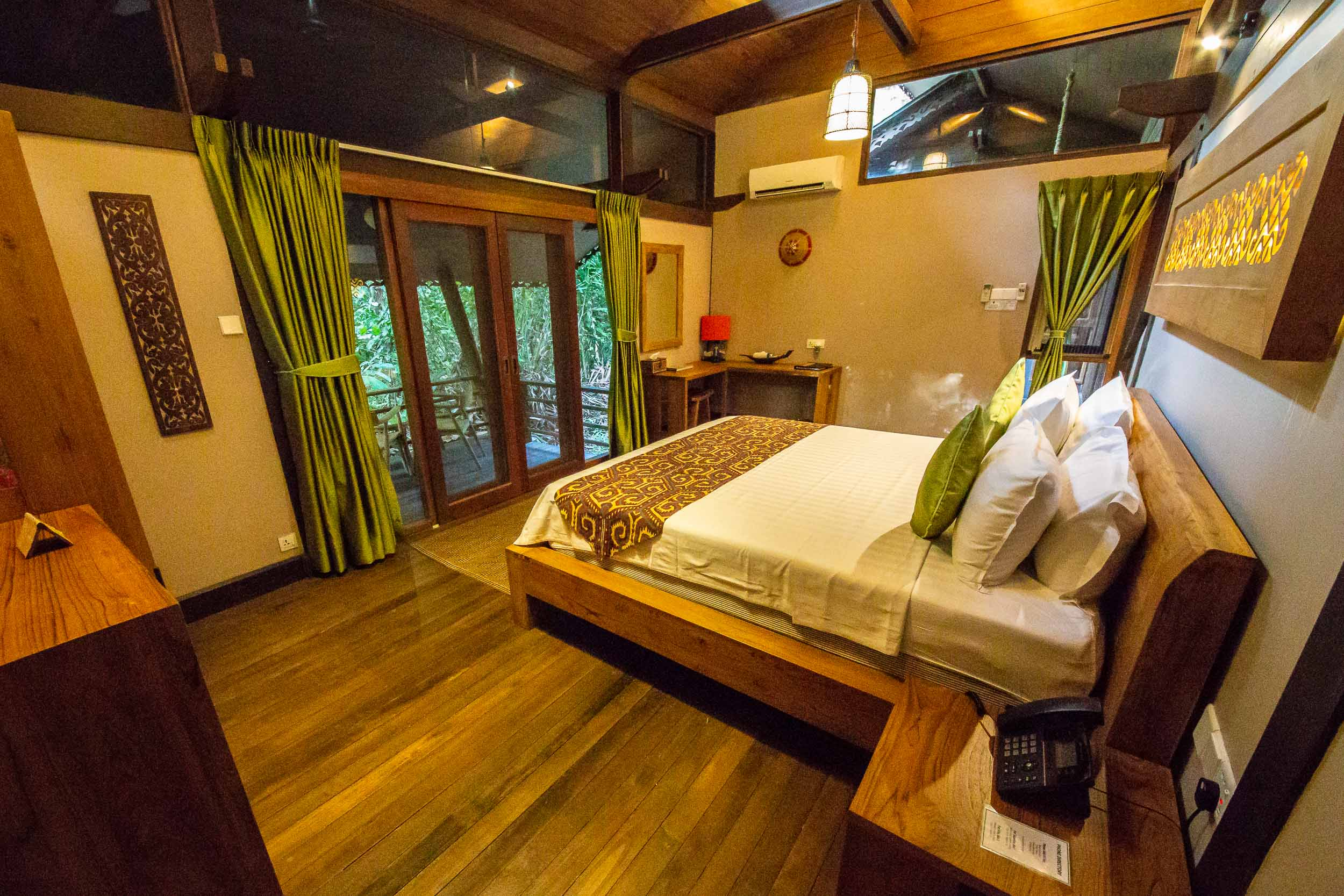 Villa Room, Sukau Rainforest Lodge, Sabah, Borneo, Malaysia