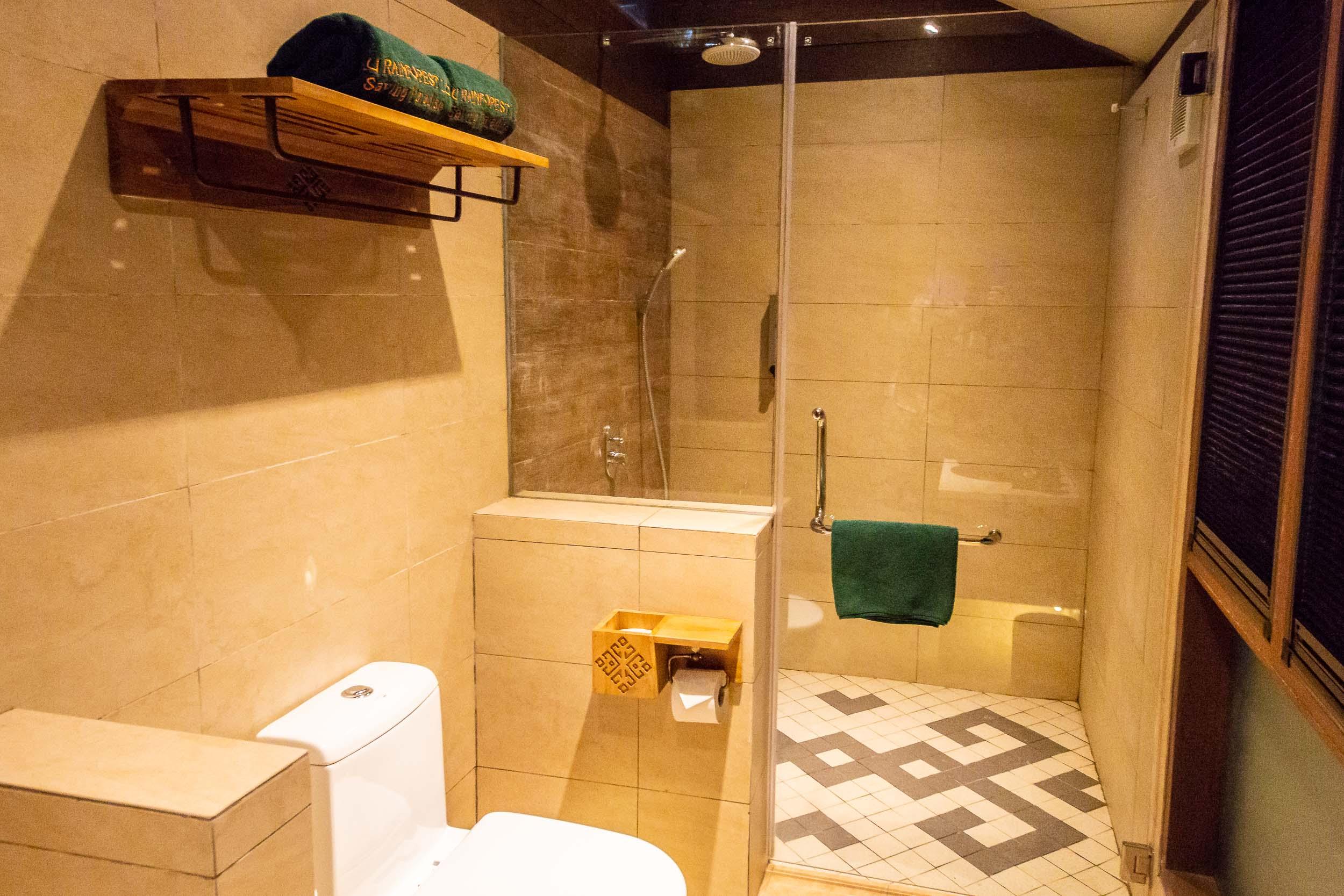Villa Bathroom, Sukau Rainforest Lodge, Sabah, Borneo, Malaysia