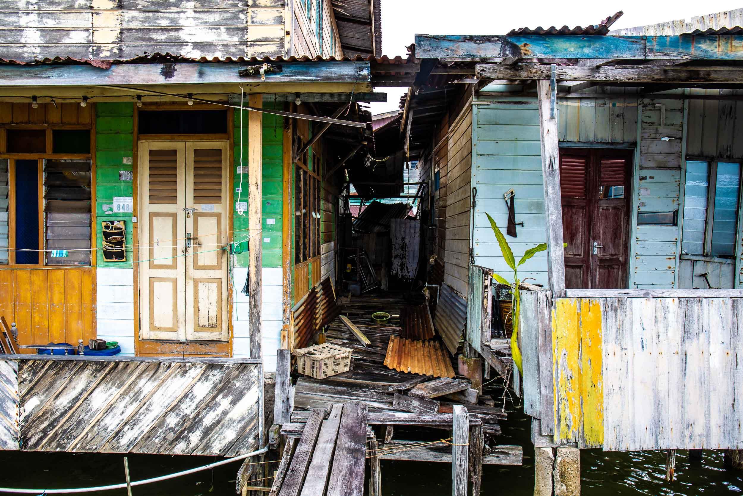 The village has seen better days, Kampong Ayer, Bandar Seri Begawan, Brunei