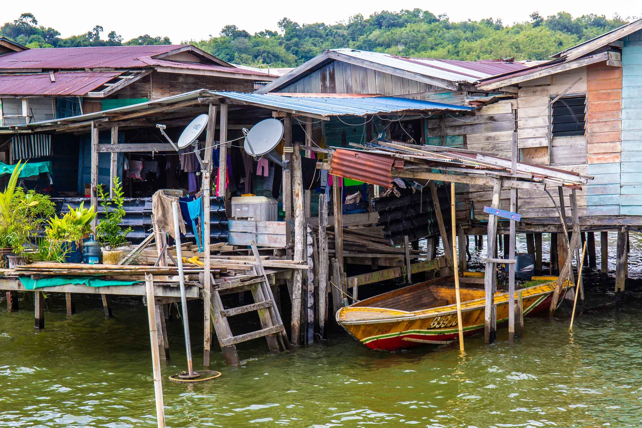 Local mode of transport, Kampong Ayer, Bandar Seri Begawan, Brunei