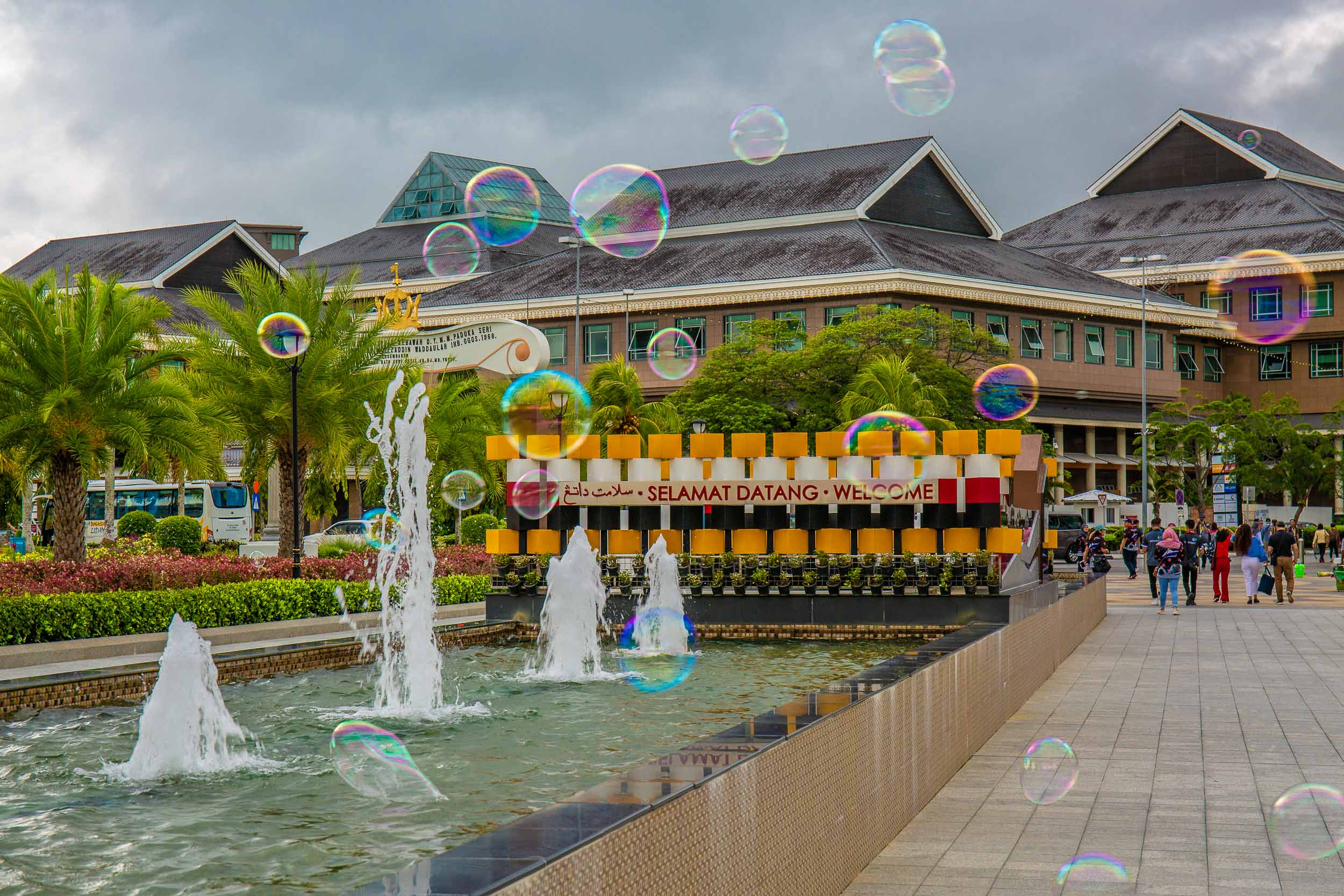 Street vendors products on show, Bandar Seri Begawan, Brunei