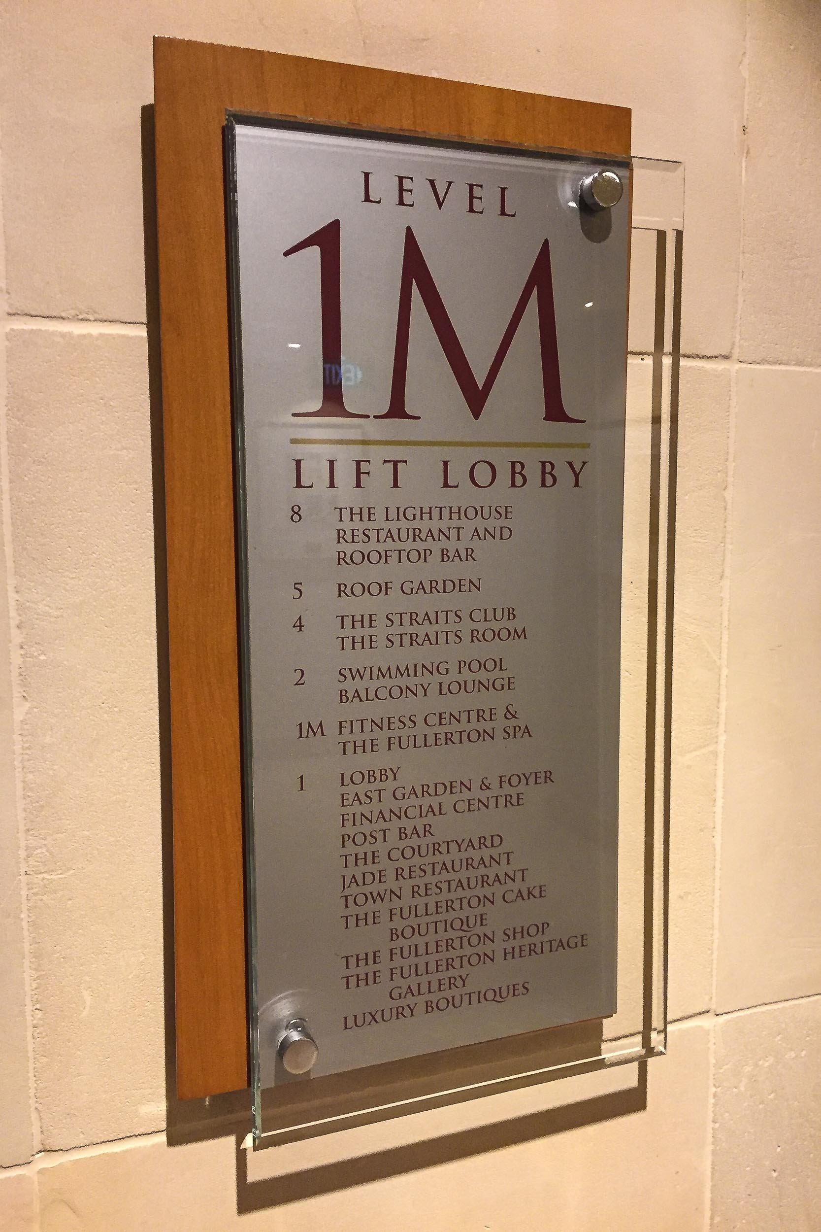 The Spa is on Level 1M of the Fullerton Hotel (not the Fullerton Bay Hotel)