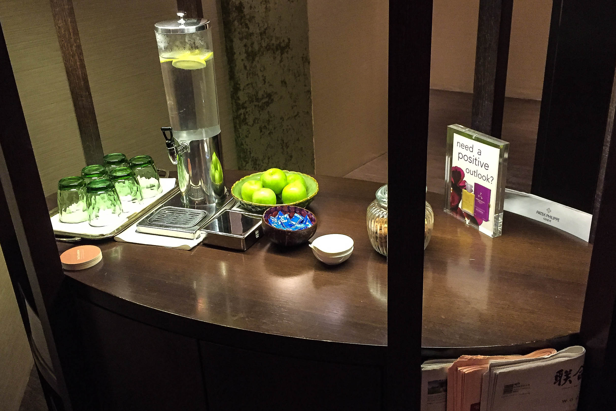 Further snacks and reading material post treatment in the Spa at the Fullerton Hotel.jpg