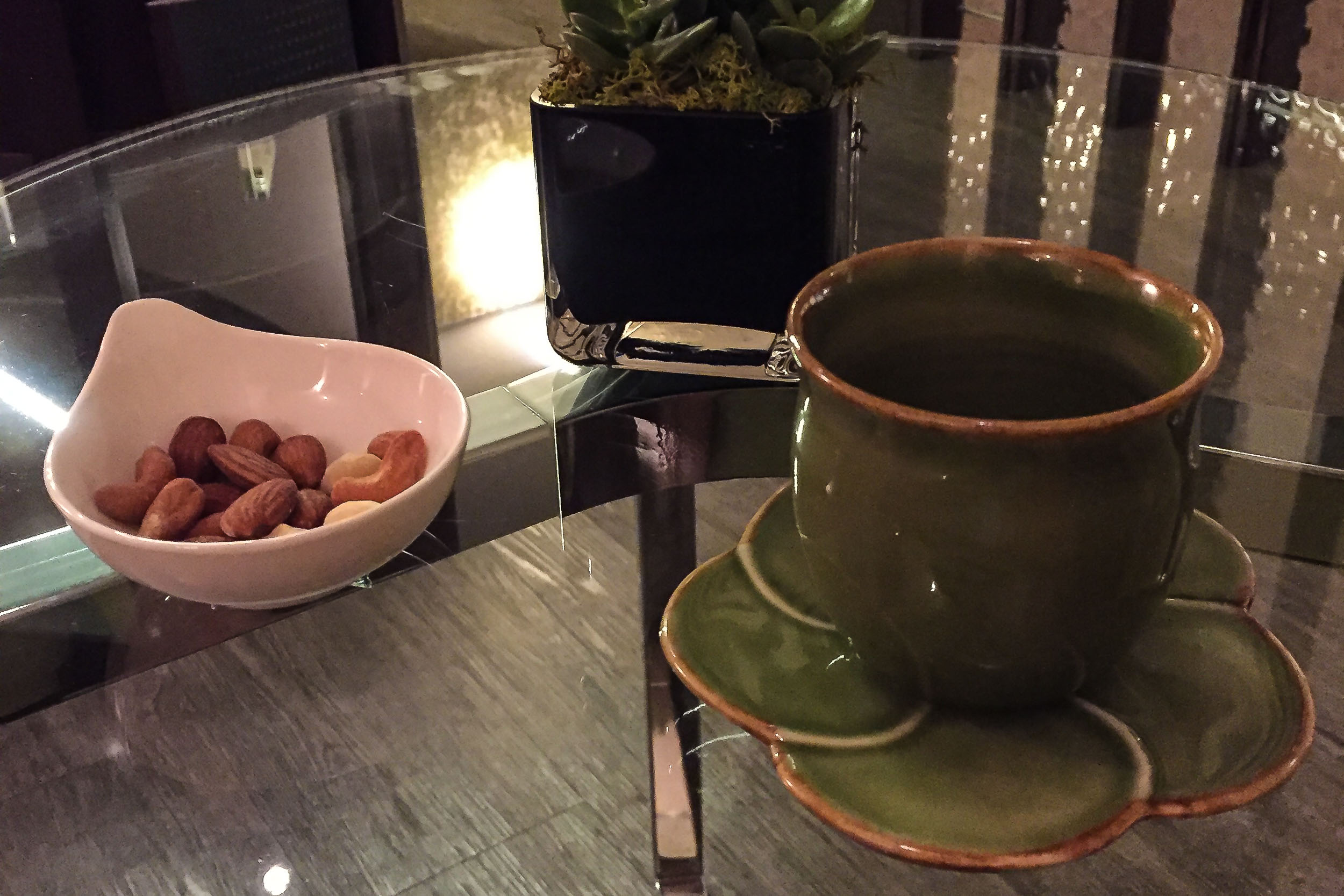 Post treatment tea and snacks, Fullerton Bay Hotel, Singapore.jpg