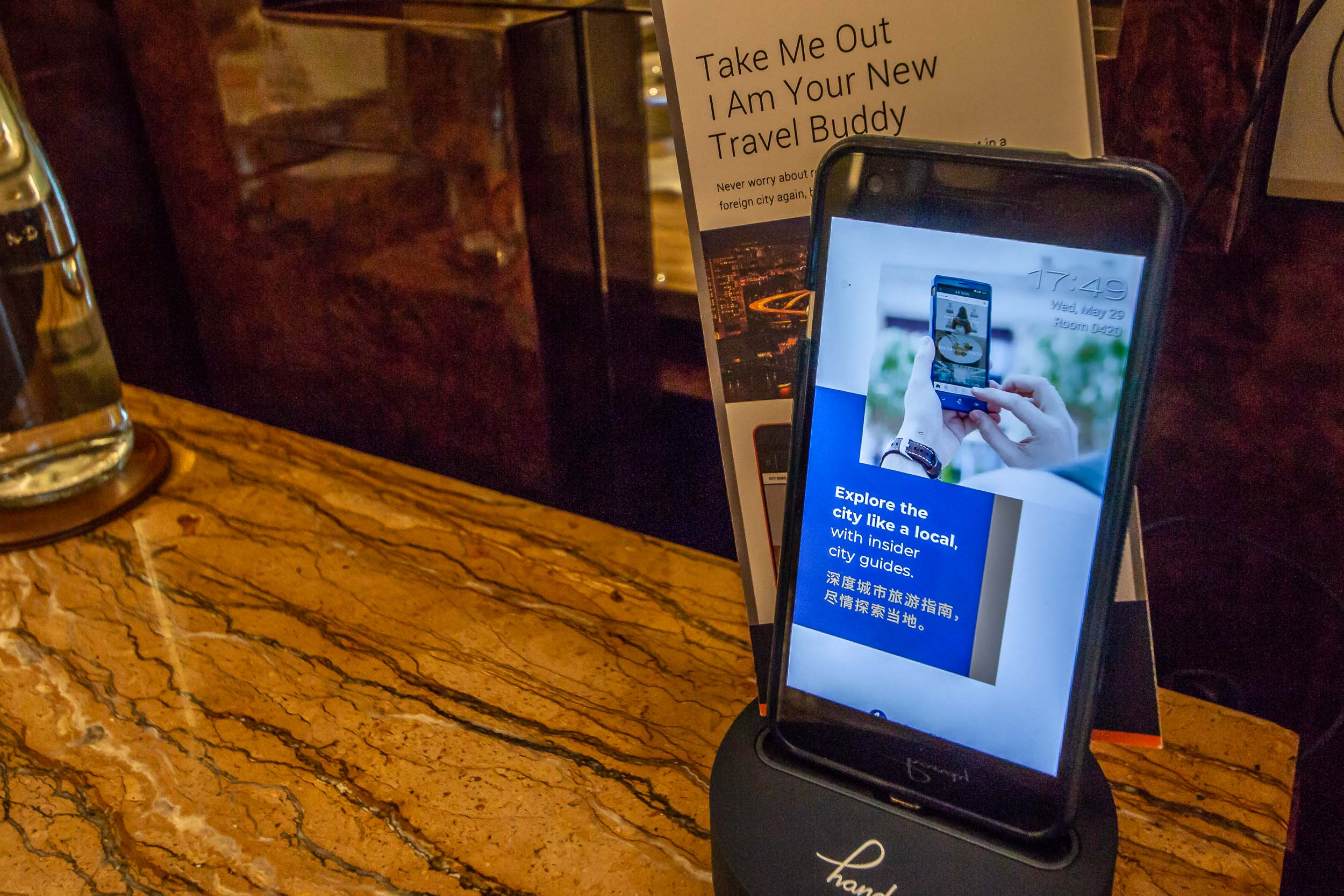 A local mobile phone is provided for use both within and outside the hotel (data and local calls are included free of charge).