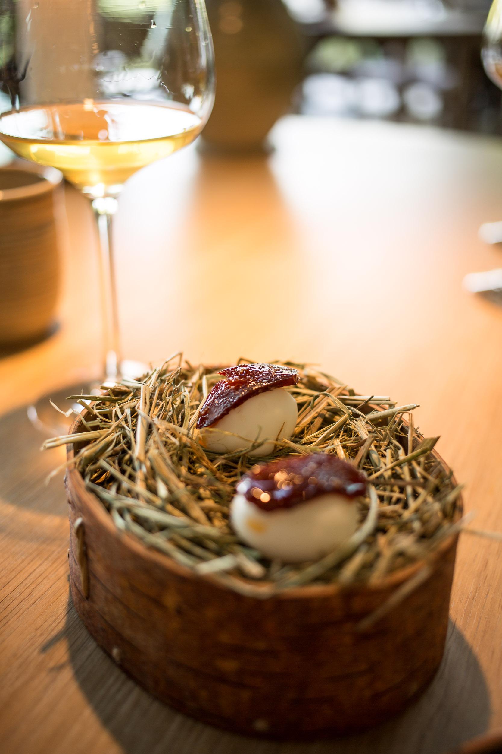 Quail eggs & hip berry chorizo, Summer Menu, Noma, Copenhagen.jpg