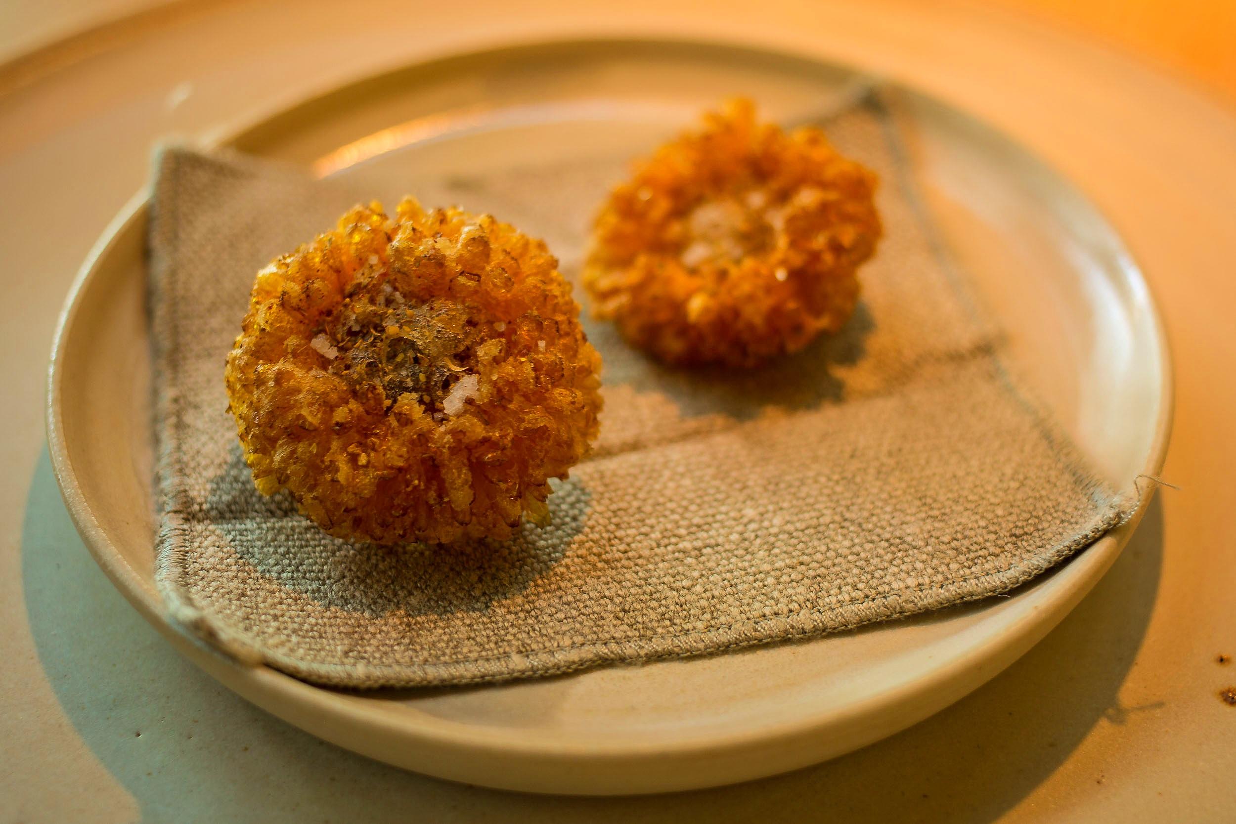 Marigold Flowers with a Whisky Egg-nog, Summer Menu, Noma, Copenhagen.jpg
