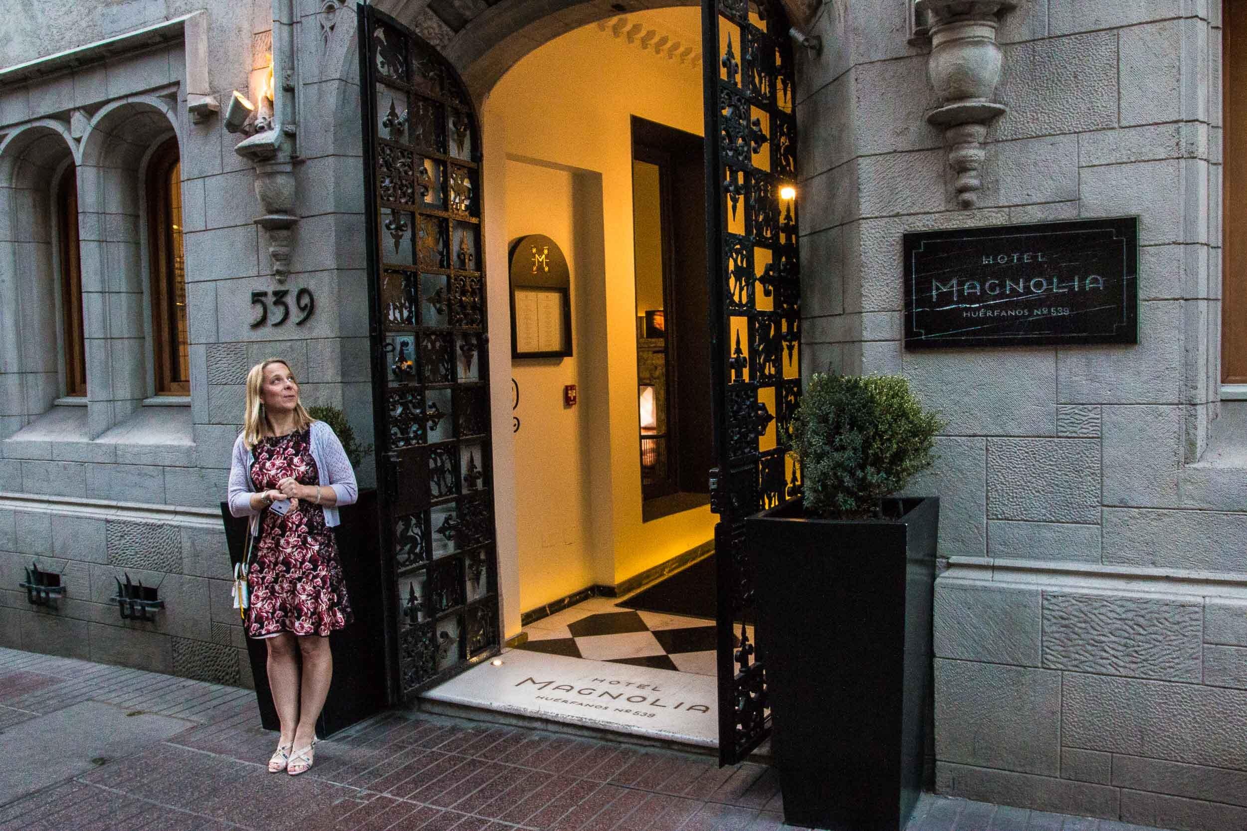 Entrance, Hotel Magnolia, Santiago, Chile