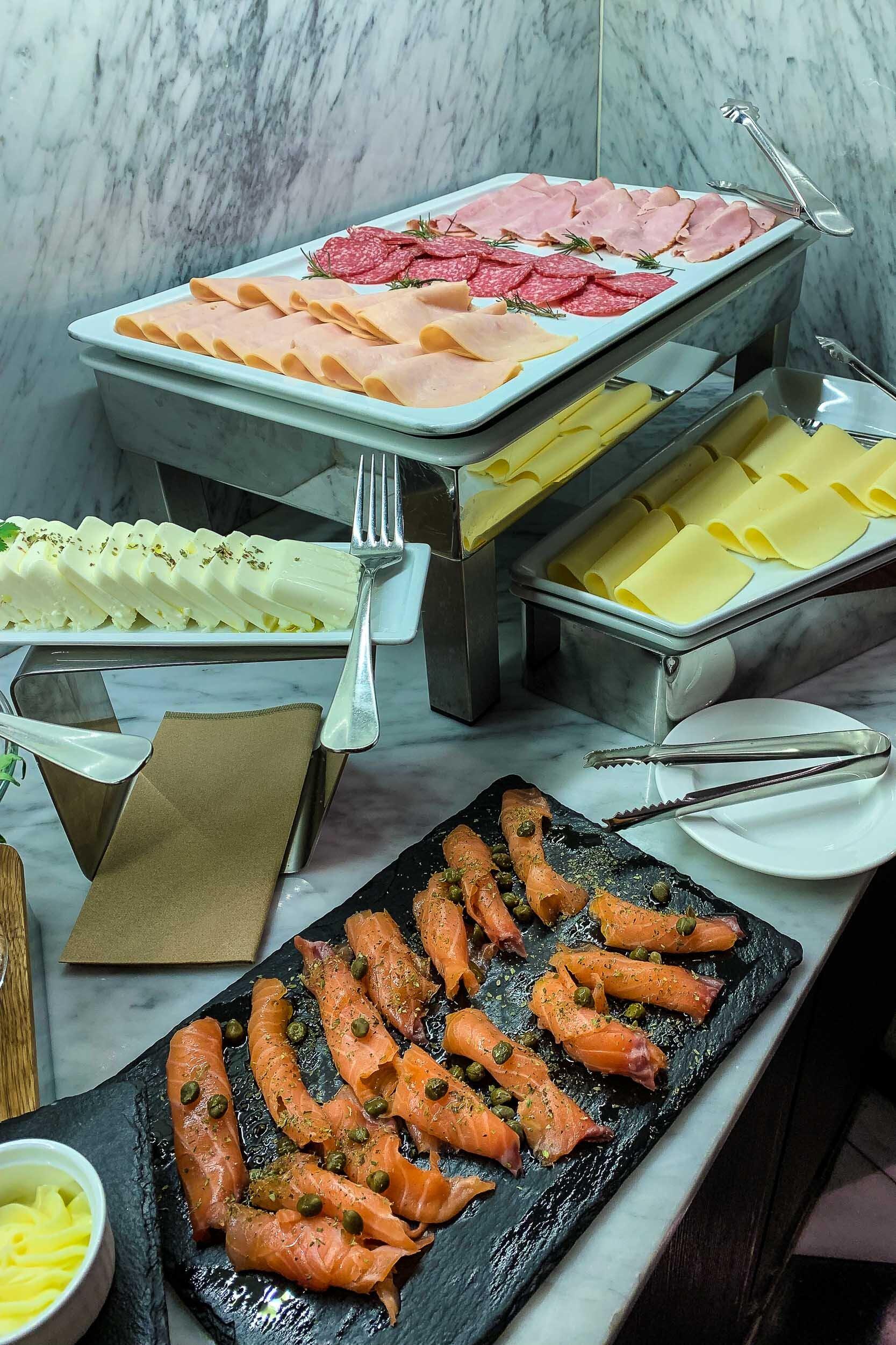 Breakfast cold cuts, Hotel Magnolia, Santiago, Chile