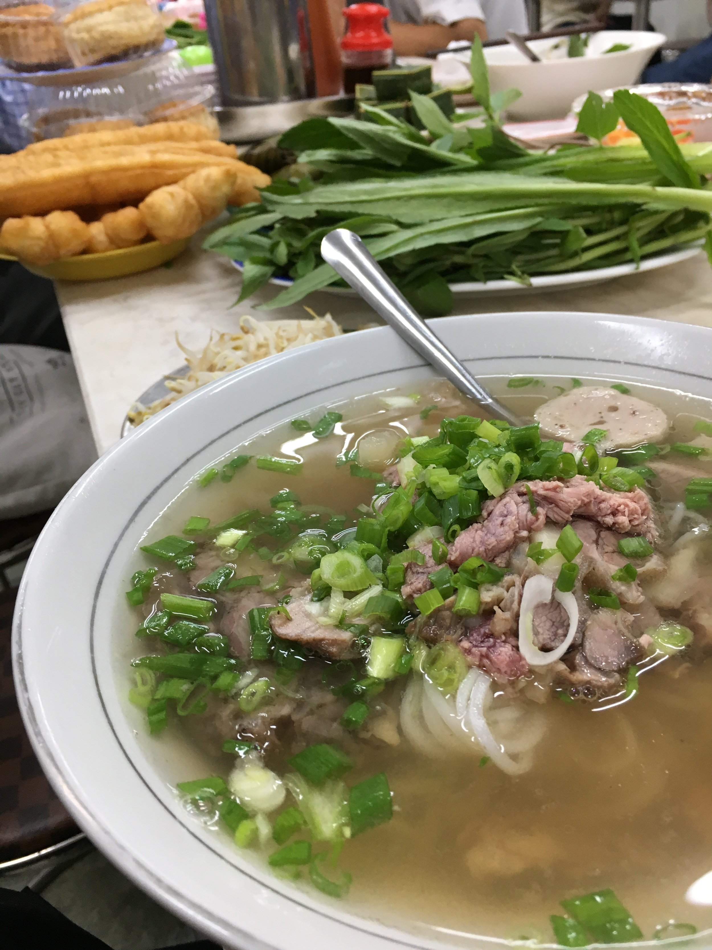 I ordered the triple style beef Phở.