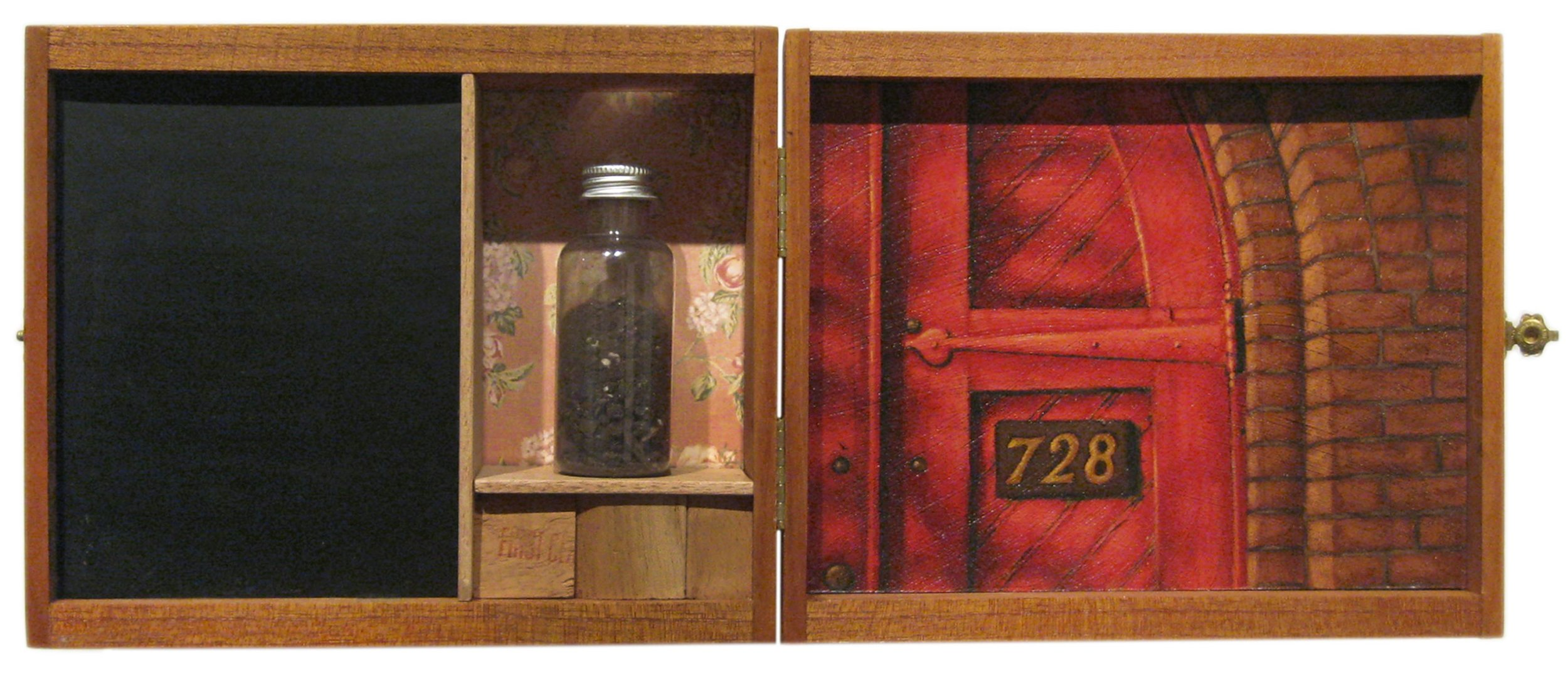 Learning Potential   Mixed Media Cigar Box Installation 16.25in x 6.75in x 3in deep