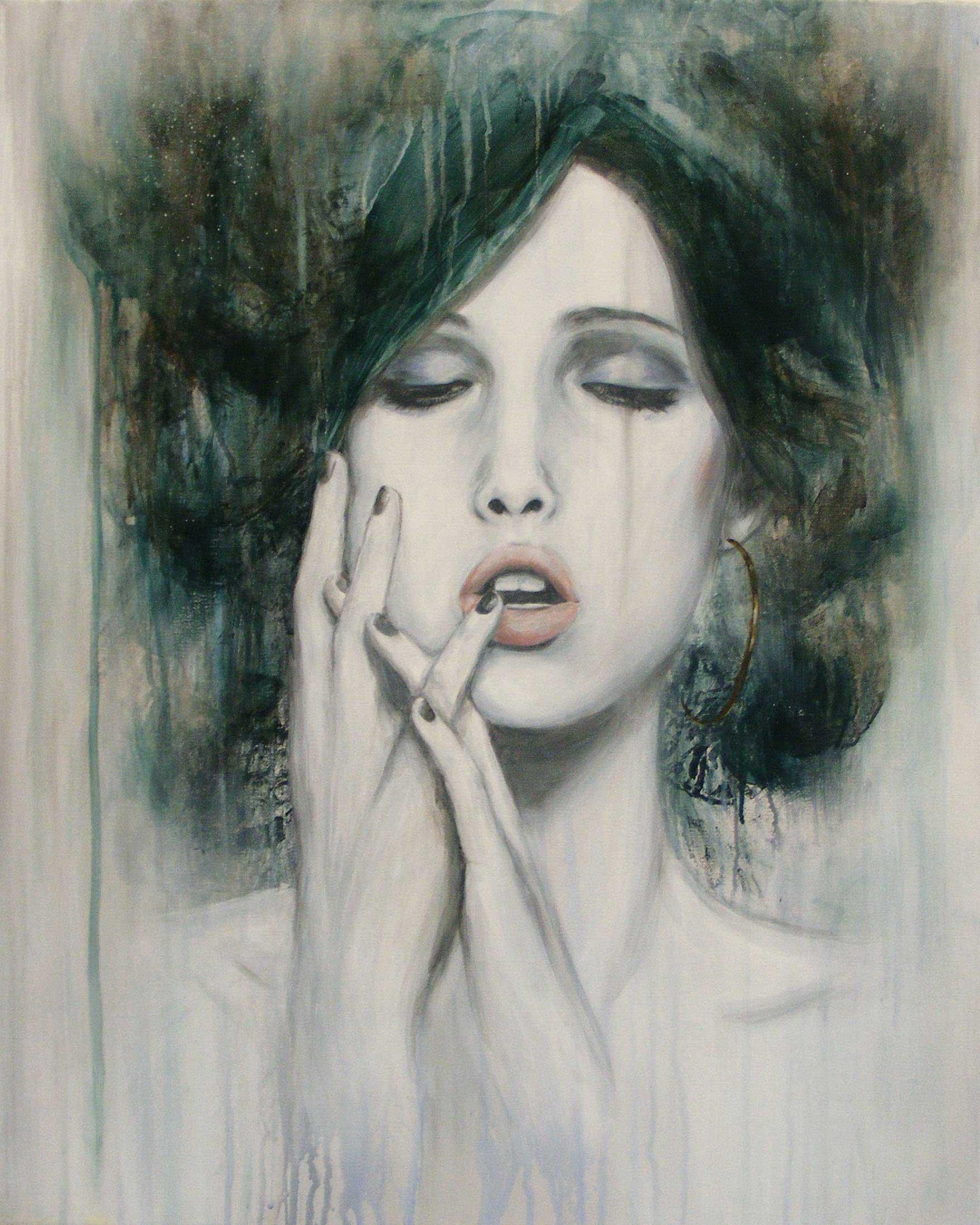 La fille au marais, par Mélissande Lauzon