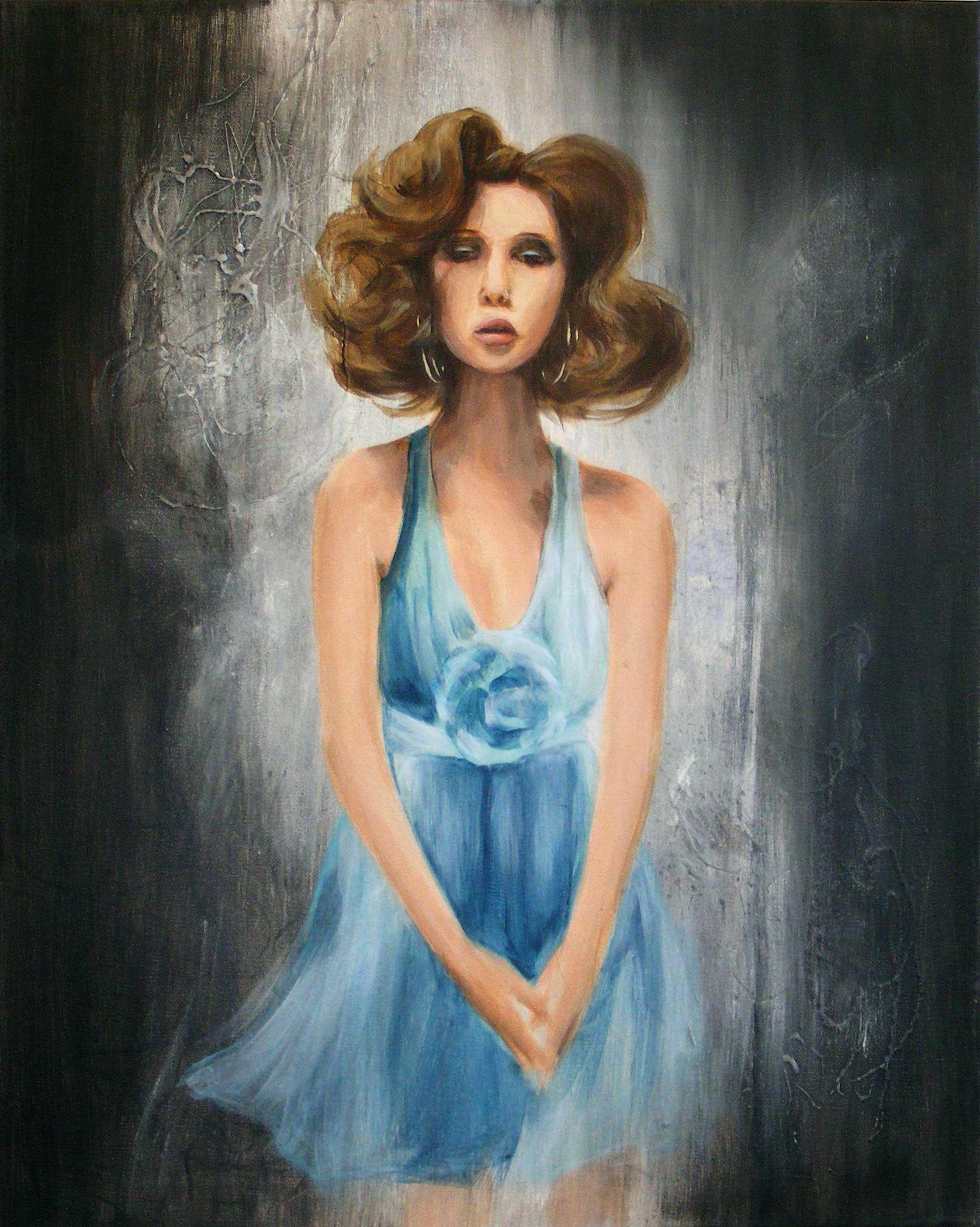 Fleur bleue , par Mélissande Lauzon