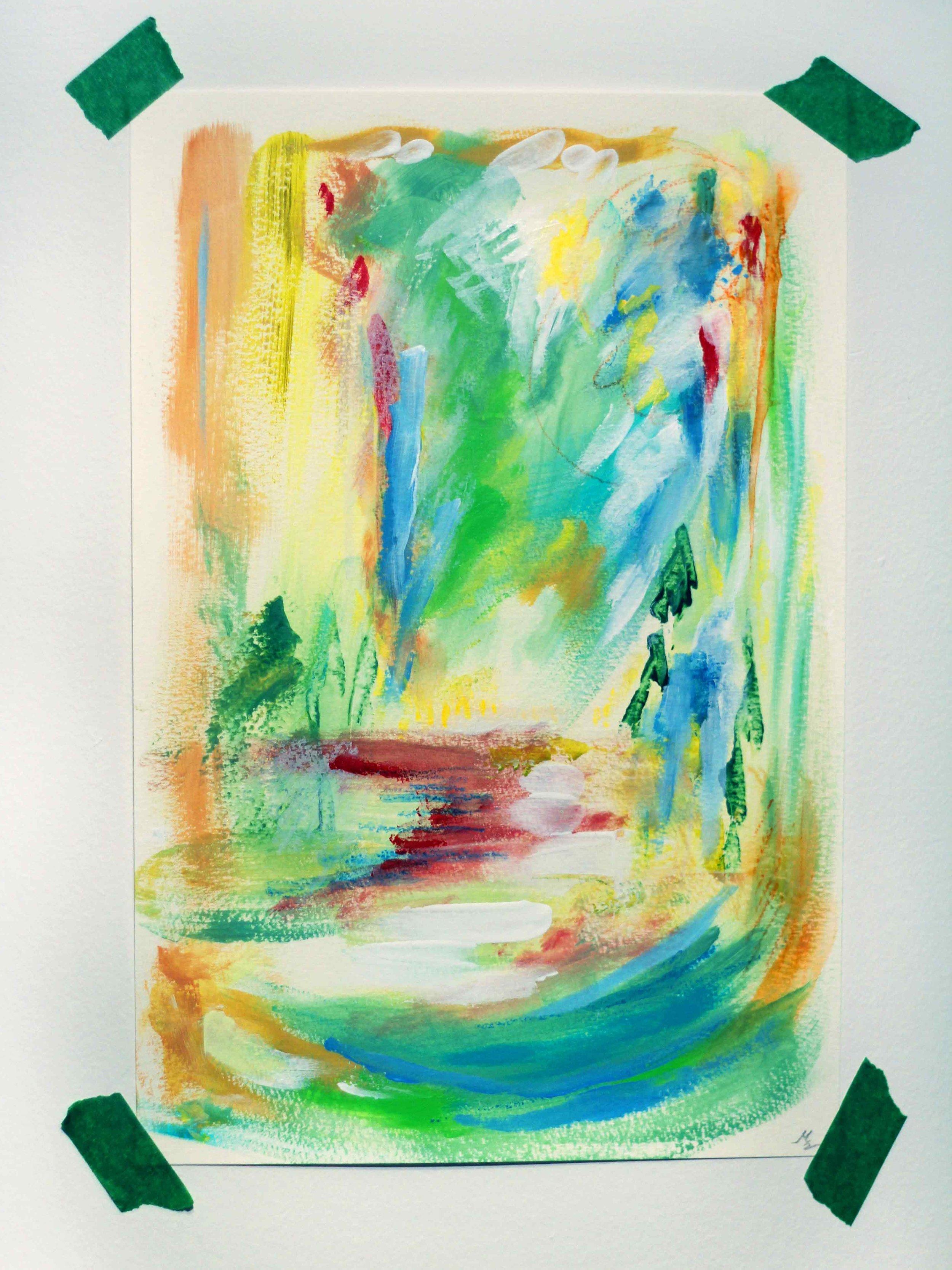 Forêt sacrée,  par Mélissande Lauzon