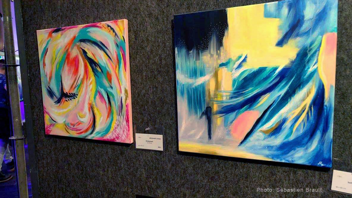Oeuvres de Mélissande Lauzon artiste peintre au Salon des Arts de Brossard.