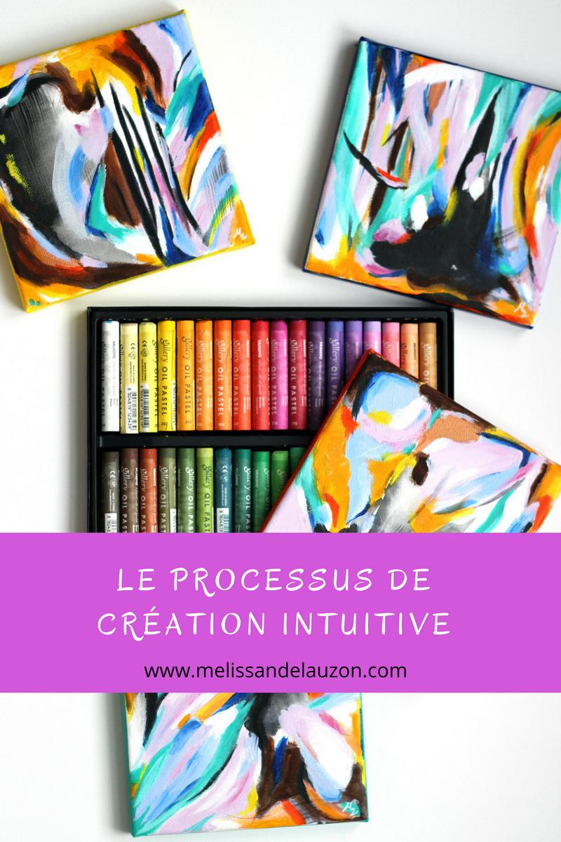 «Le processus de création intuitive» article de blogue par Mélissande Lauzon artiste peintre.