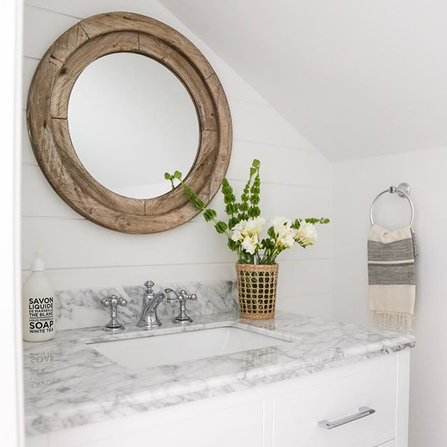 Powder room perfection #SSSPtPleasant #stagestylestras. . . Take a screenshot of this photo and head to the LIKEtoKNOW.it app to shop the products used in this design! #liketkit @liketoknow.it