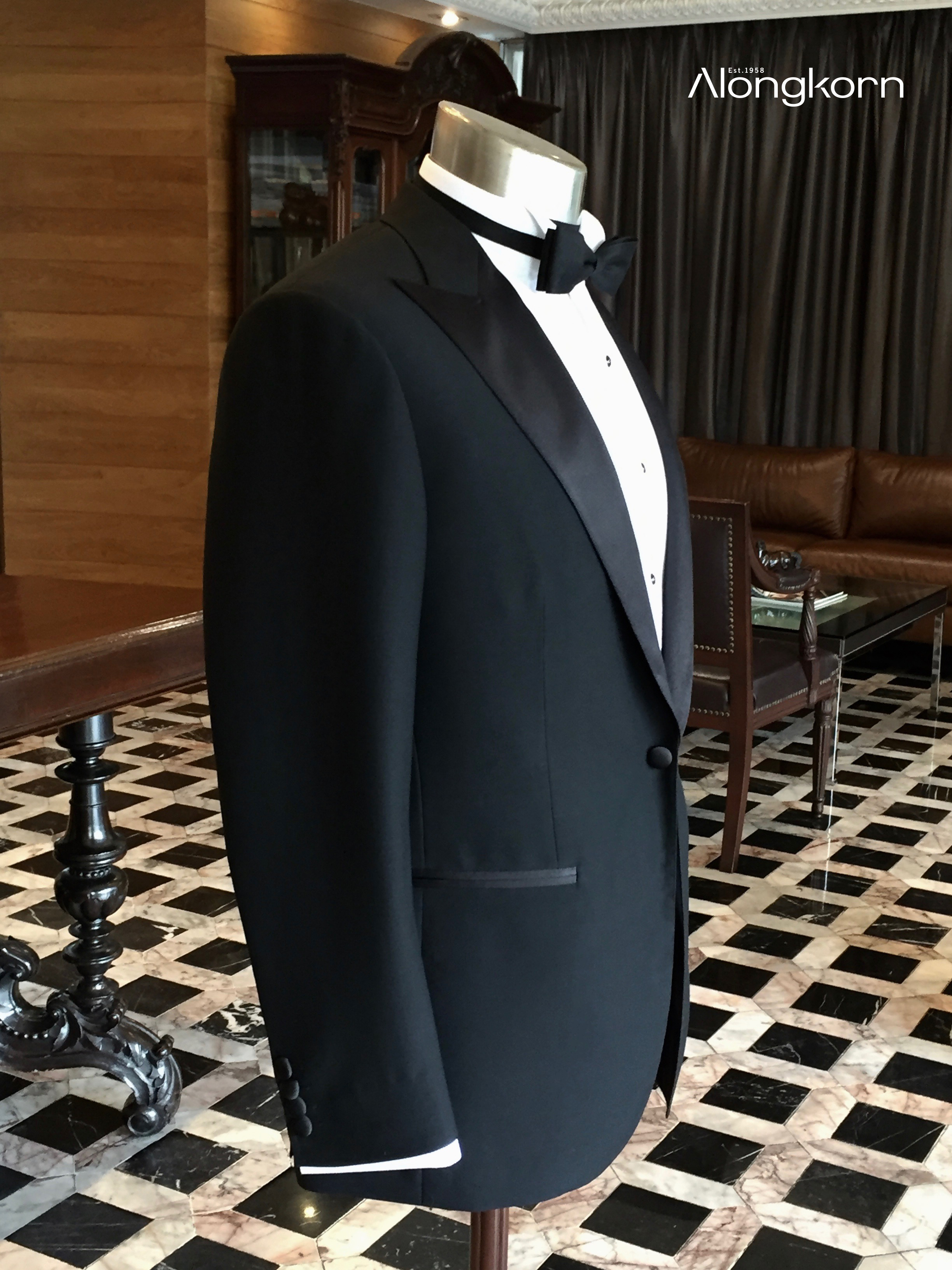 Wool-Blended Black Tie - Suit : From Bt.29,500Tuxedo Shirt : From Bt.5,500