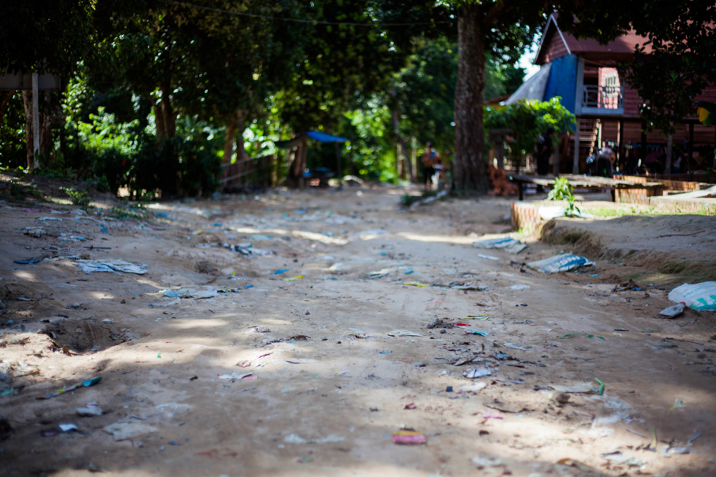 A typical Cambodian village on top of Kulen mountain.