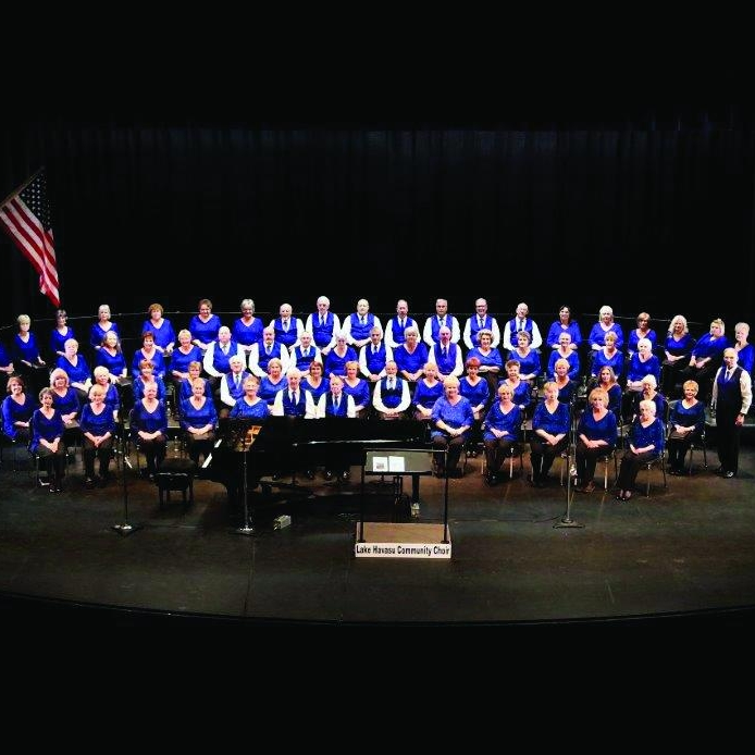 Lake Havasu Community Choir    is an all-volunteer choir with a mission to provide members and audiences with quality choral entertainment. It is a 501(c)3 non-profit supported by ticket sales, donations and sponsorships. Rehearsals are Tuesdays at 6:00 pm at the LHHS Choir room, 2675 S. Palo Verde Blvd, beginning in September. The choir performs two public concerts each year, Spring and Winter, with two performances, one at 2pm and one at 5pm, at the Performing Arts Center at LHHS.Advanced tickets are $10 adult, $5 students and are available from any choir member, Scoops Ice Cream and Sound Bank Electronics.Adult tickets at the door are $12.  For further information call Karen Cooke, 928-855-5130 or Sonia Cunningham, 928-680-1802.  lakehavasucommunitychoir.com