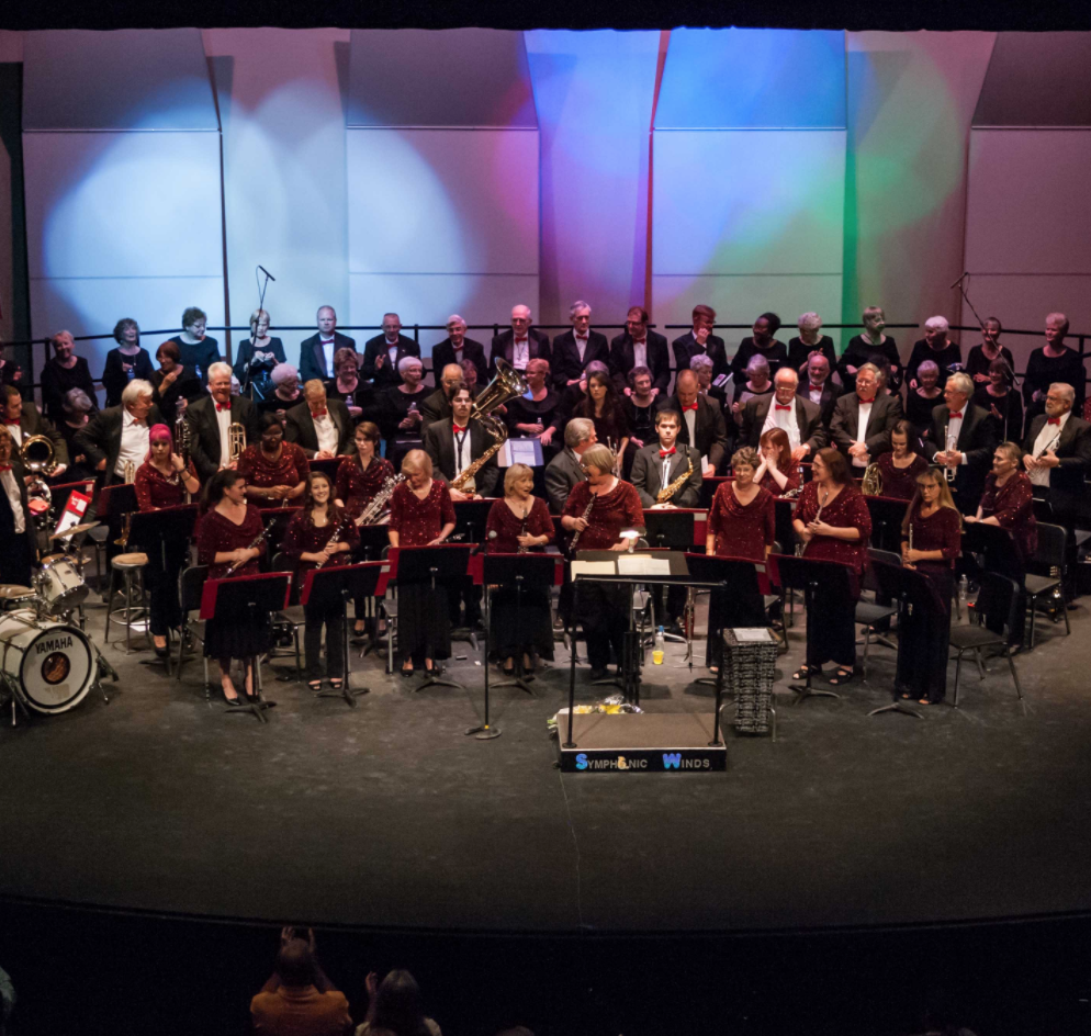 Lake Havasu Symphonic Winds, Inc.   is a community band composed of 30 advanced level musicians of varied ages who share a love of playing music of all kinds. The conductor is Kimberly Wilson. The group rehearses weekly and presents several concerts each year at the Performing Arts Center on the LHHS campus, 2675 S. Palo Verde Blvd. General admission is $10 for adults, free for children and students. Concerts begin at 3 pm. The Winds is a 501(c)3 nonprofit organization supported by ticket sales, donations, and sponsors.  Info: 928-680-6927 or  lhswinds.com .
